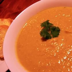 Pumpkin, Sweet Potato, and Leek Soup lovebergs