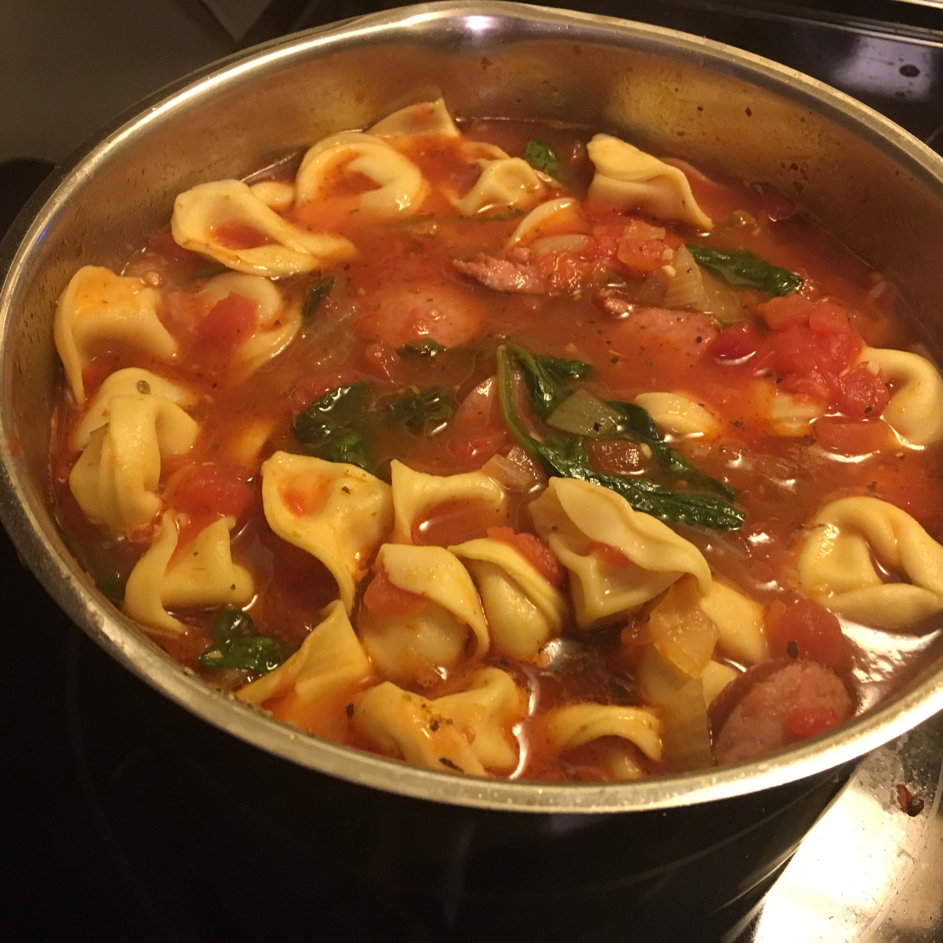 Smoked Sausage and Tortellini Soup homecookdad