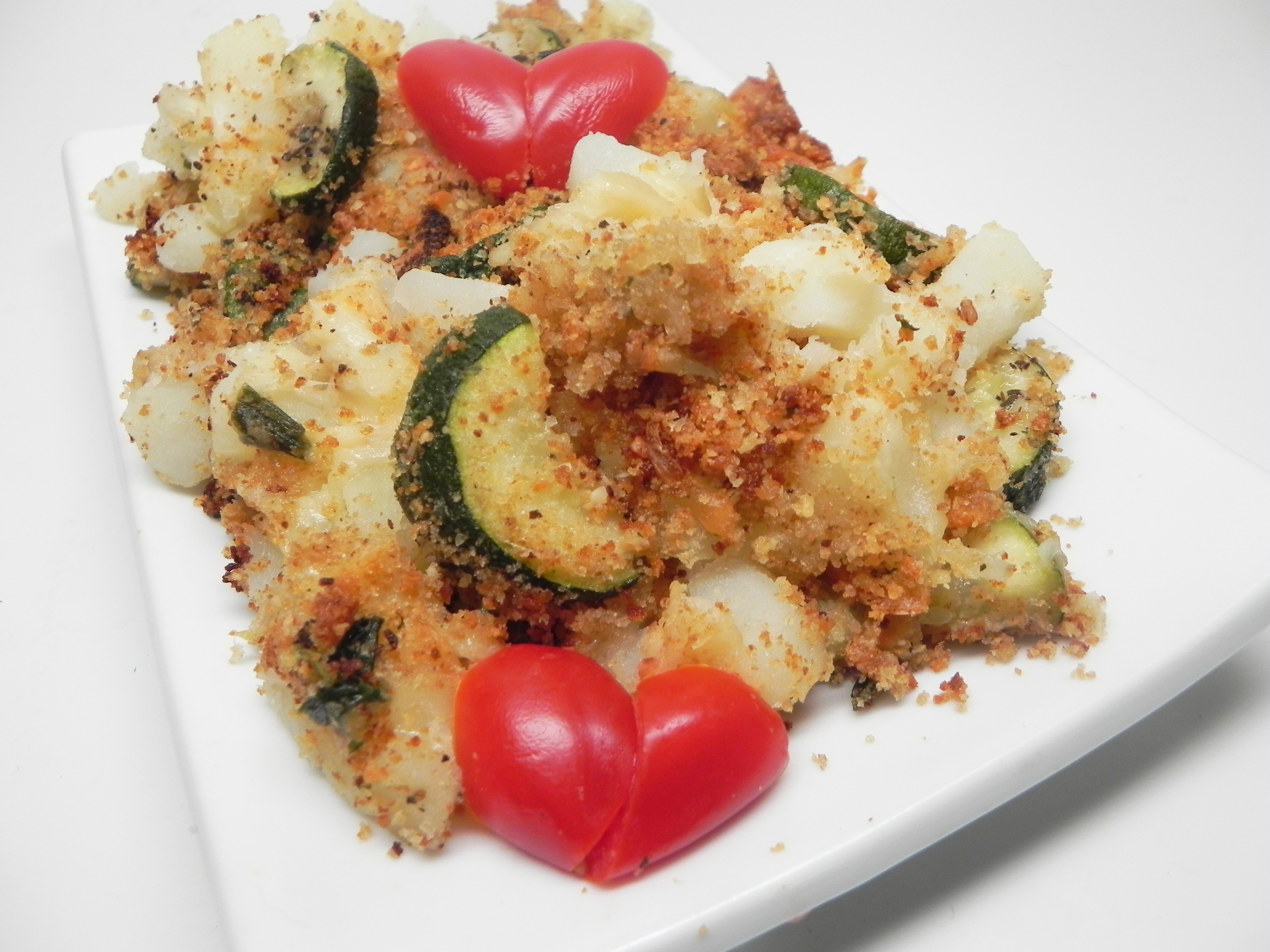 Diced Potato Casserole with Vegetables