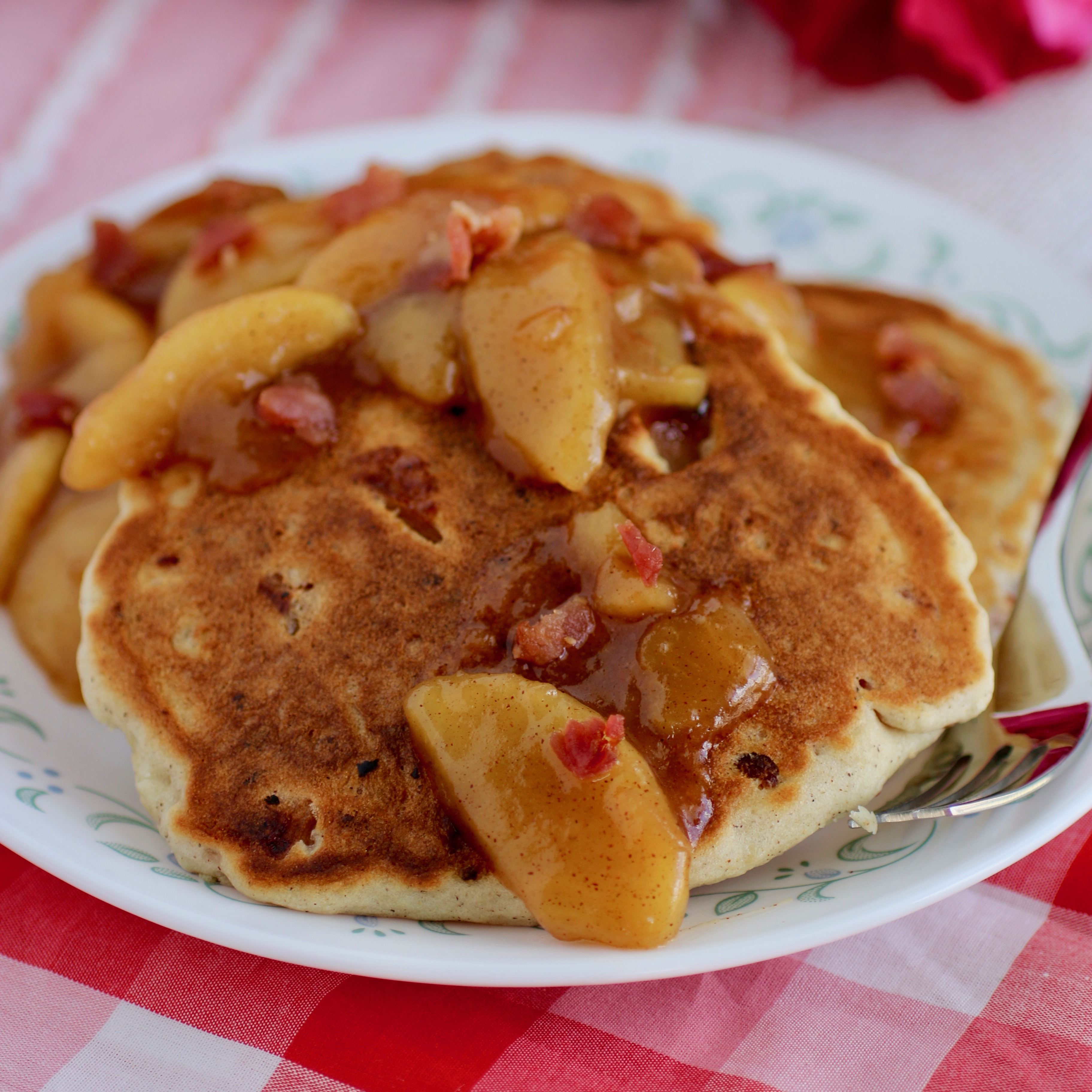 Bacon Bourbon Apple Pancakes