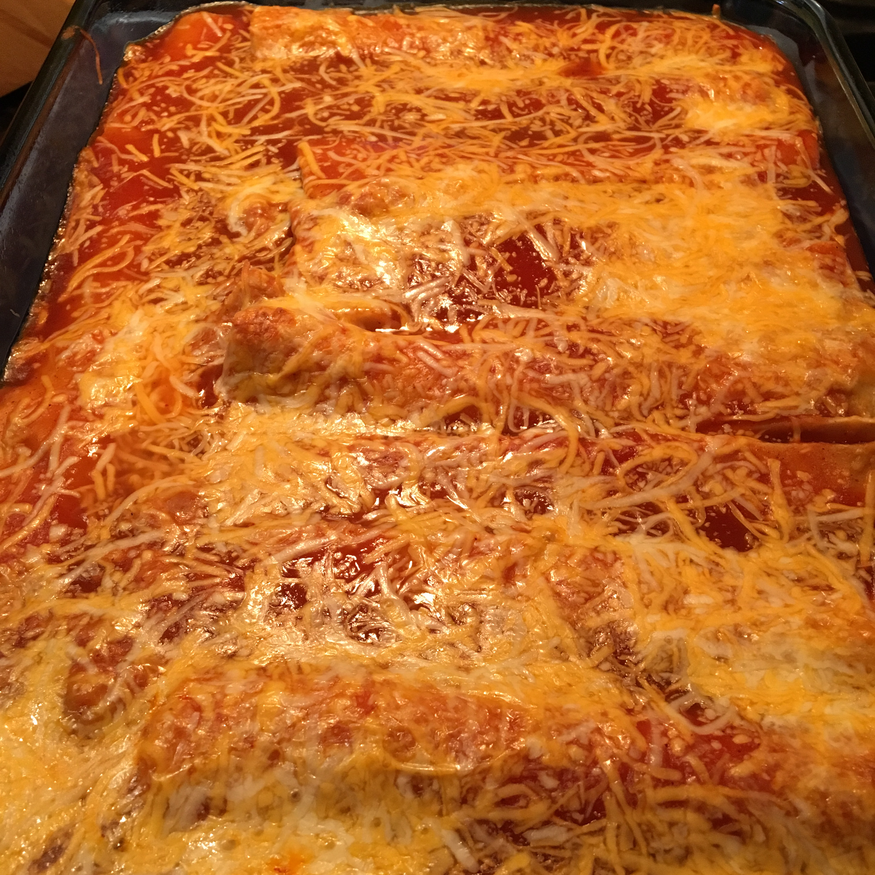 Refried Bean and Cheese Enchiladas levinmama