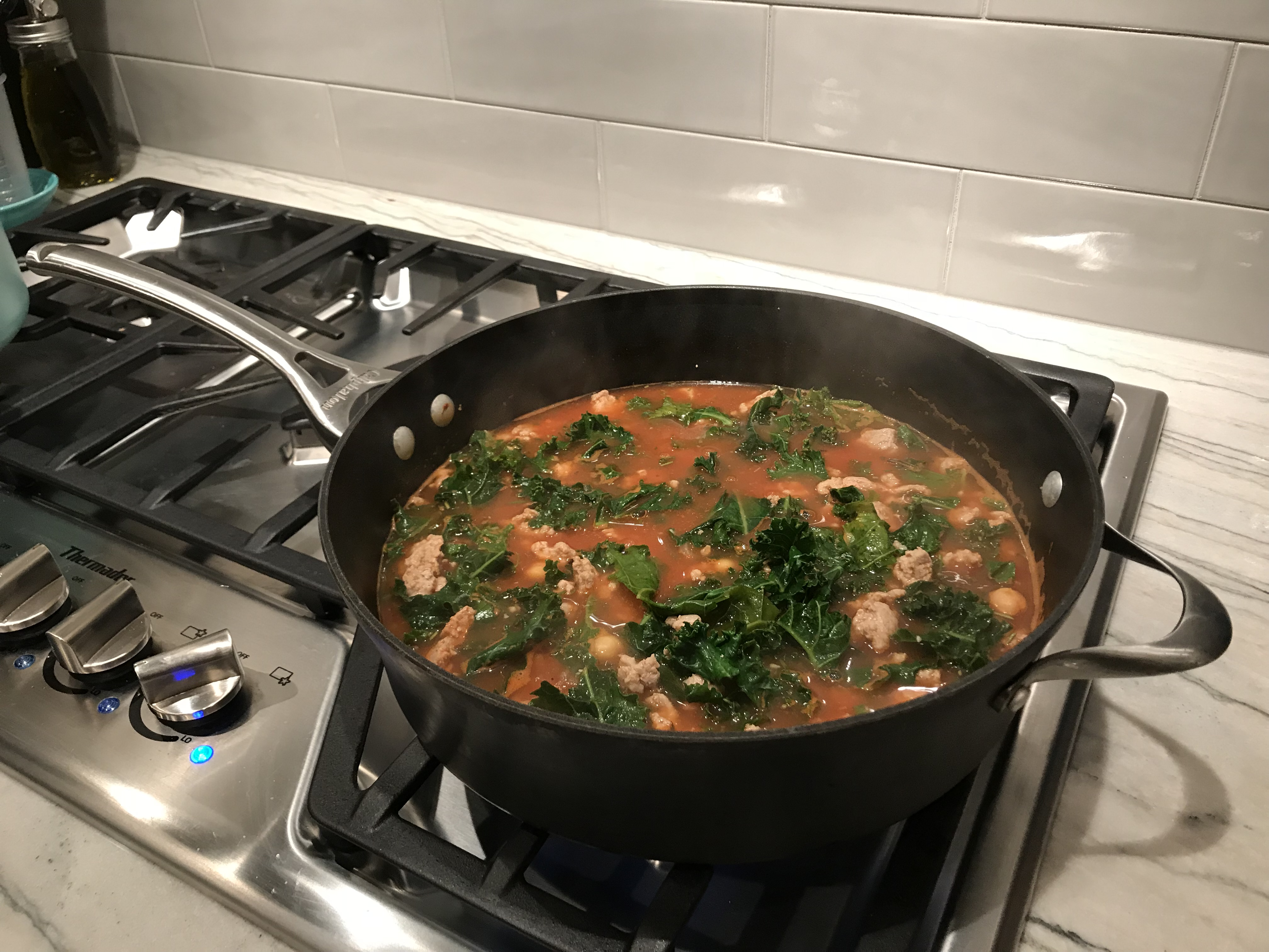 Turkey Garbanzo Bean and Kale Soup with Pasta Haley Hoffenberg Mitchell