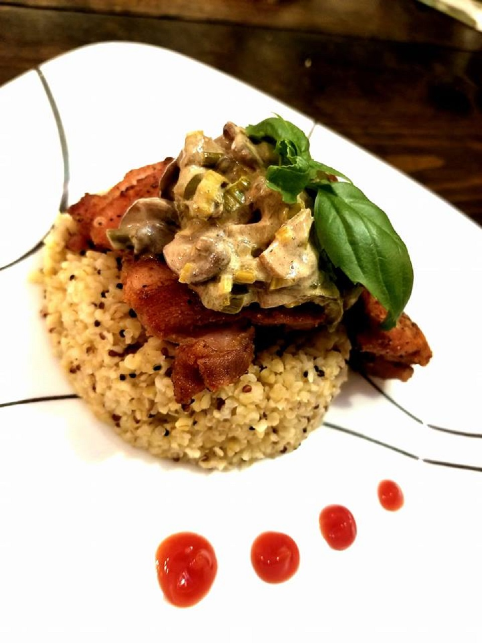 Chicken Thighs with Mushroom-Leek Sauce Deana R Okun