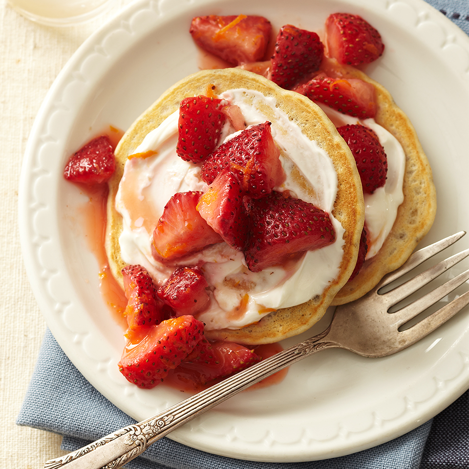 These strawberry pancakes are a healthy alternative to traditional breakfast pancakes. With ingredients like chia seeds, oat flour and fresh strawberries, they offer nutritious benefits without sacrificing taste. Source: Diabetic Living Magazine