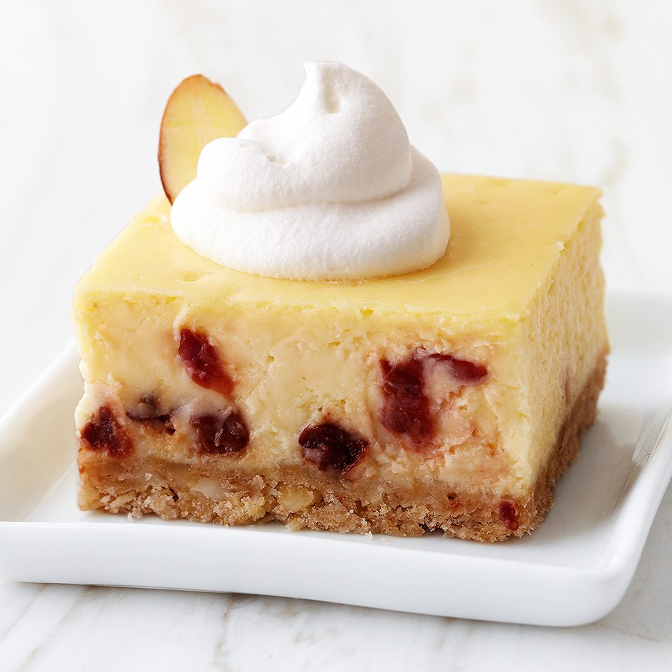 Cherry-Almond Cheesecake Bars Trusted Brands