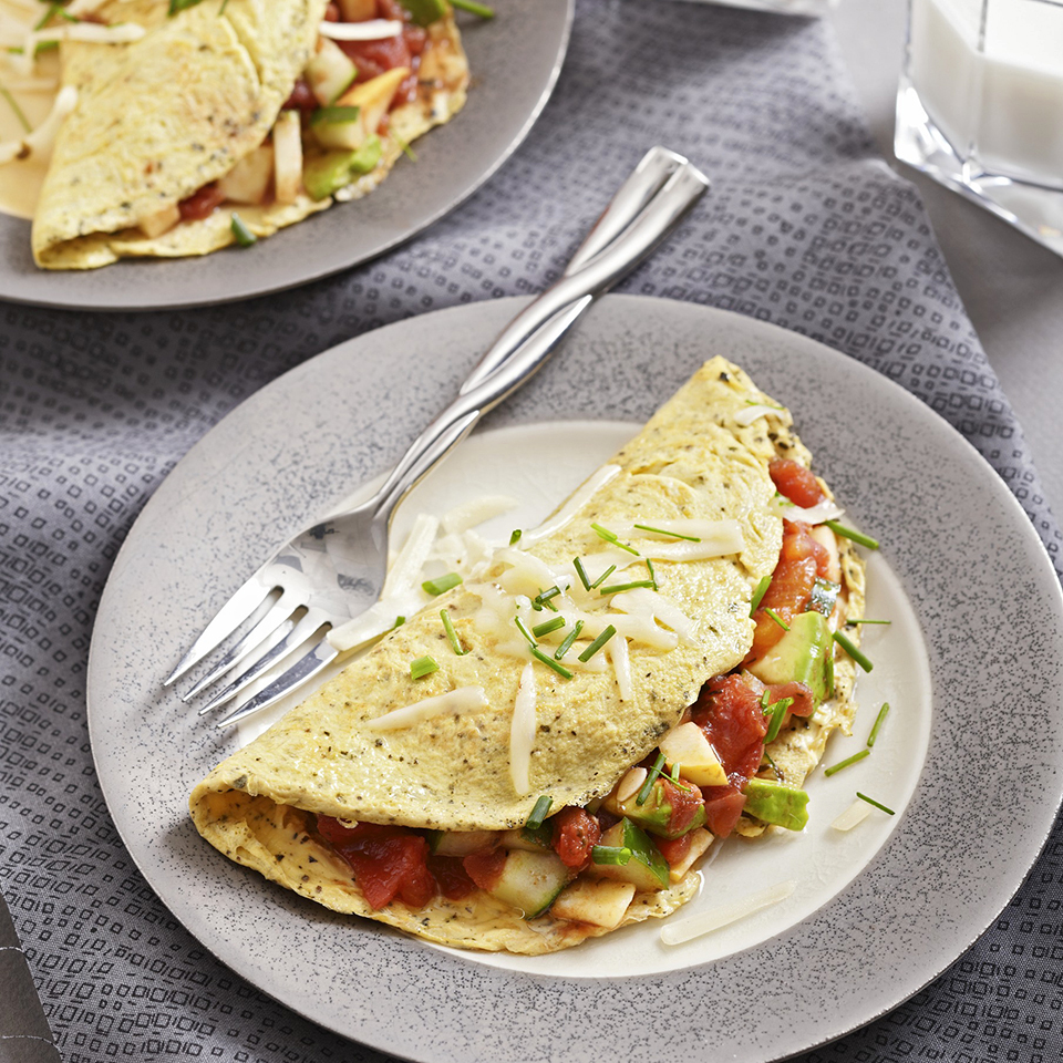 Vegetable-Filled Omelets Trusted Brands