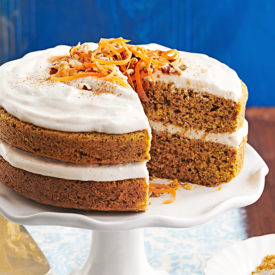 Chai Carrot Cake with Walnuts