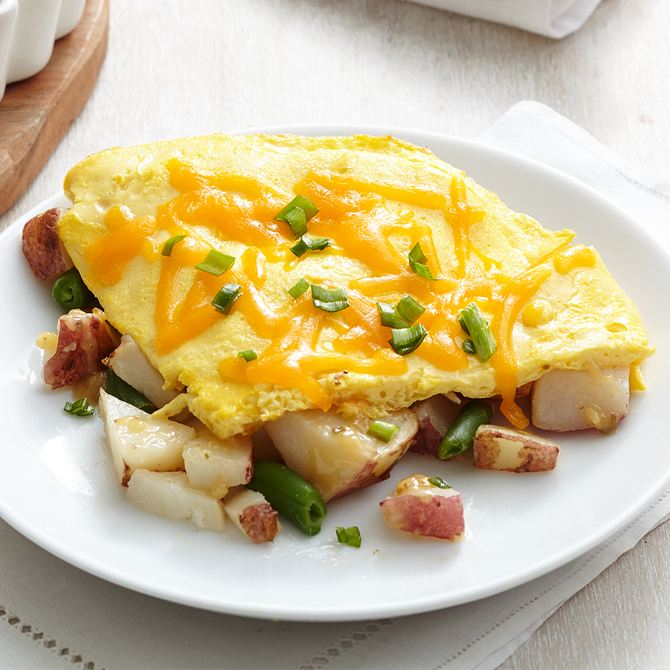 This quick and easy omelet is the perfect solution to breakfast or brunch. This low-calorie omelet packs a protein punch and offers a unique flavor combination guaranteed to help jump start the day. Source: Diabetic Living Magazine