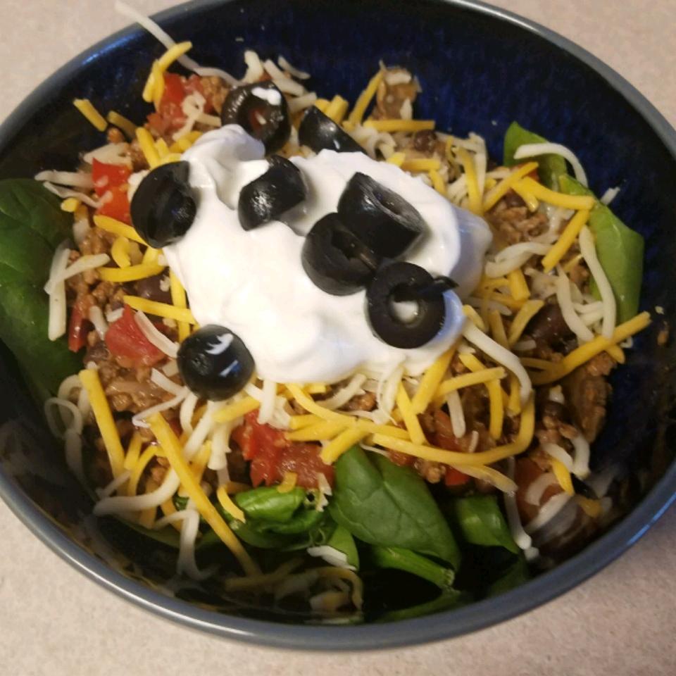 Taco Salad with Spinach Debra Carlsen-Bockrath