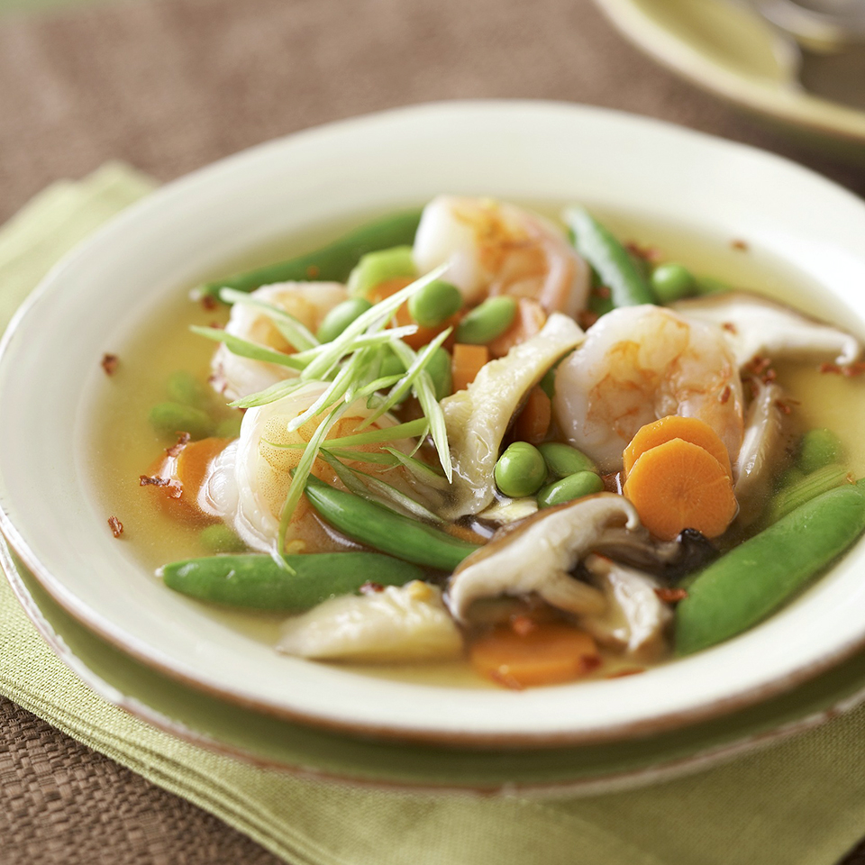 Asian Shrimp and Vegetable Soup Diabetic Living Magazine