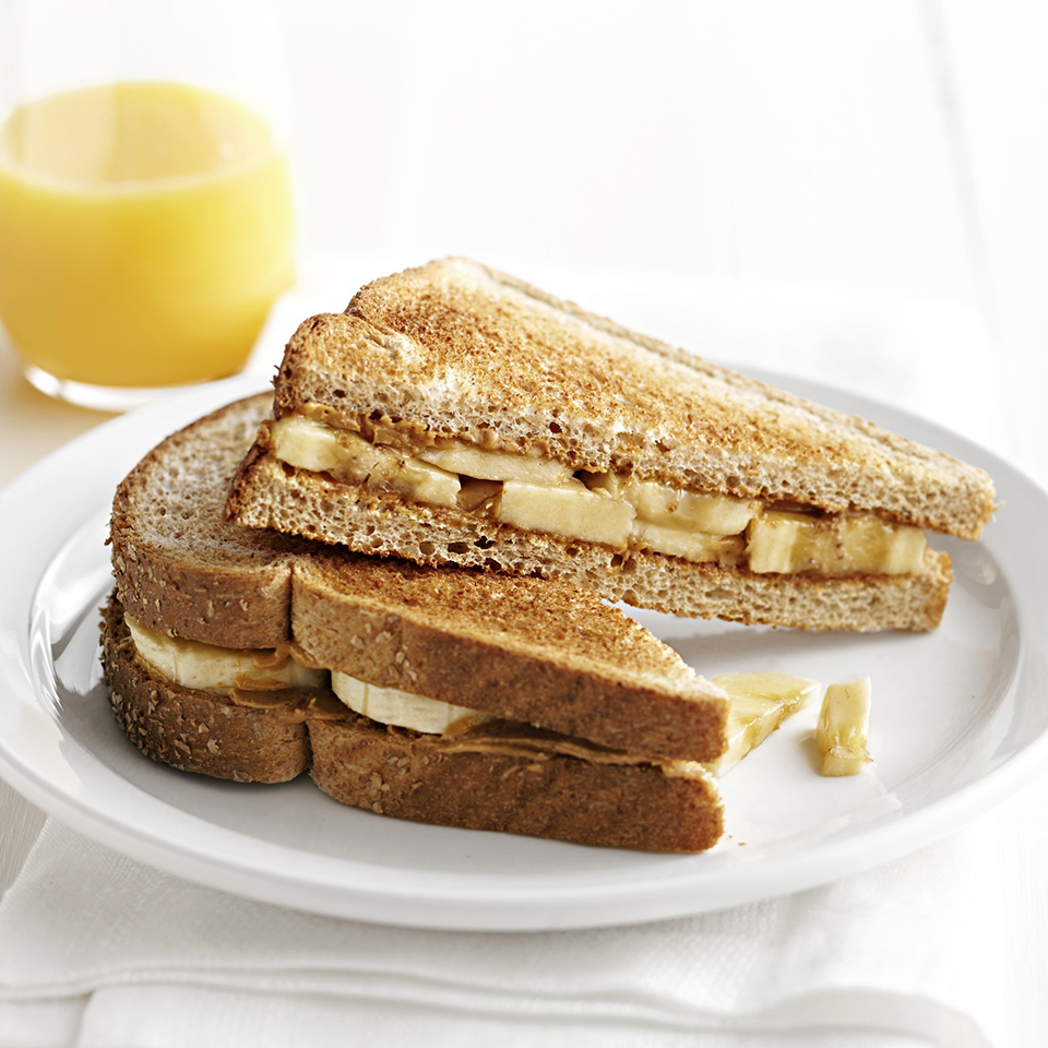 Creamy peanut butter and bananas are the key ingredients to this quick and easy breakfast. Source: Diabetic Living Magazine