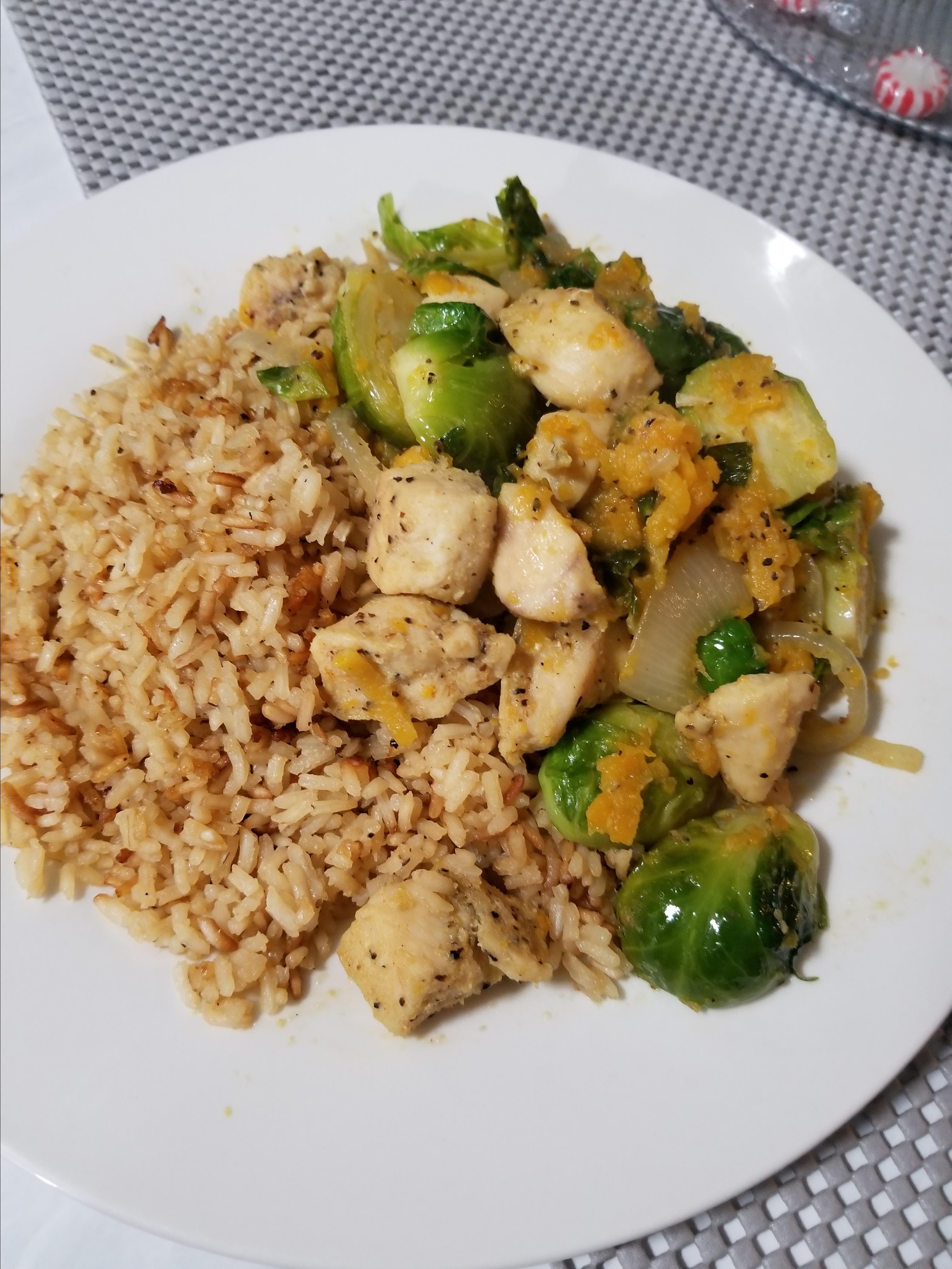 Chicken with Brussels Sprouts & Butternut Squash Skillet Dinner Brittany