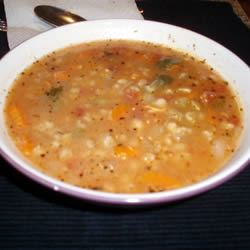 Beaker's Vegetable Barley Soup daveycooks