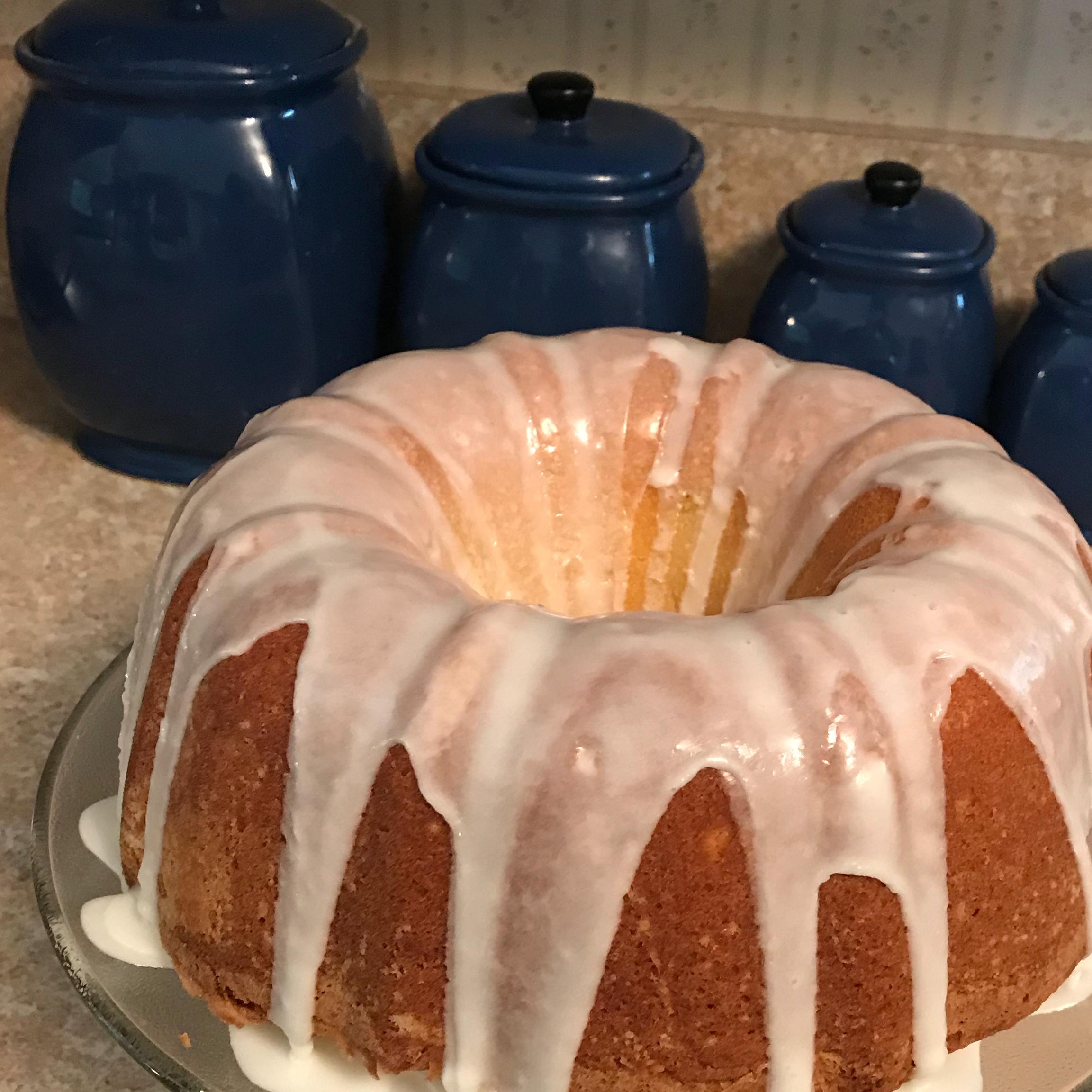 Lemon-Buttermilk Pound Cake with Aunt Evelyn's Lemon Glaze