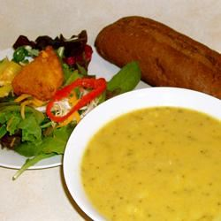 Tim Perry's Soup (Creamy Curry Cauliflower and Broccoli Soup) nat