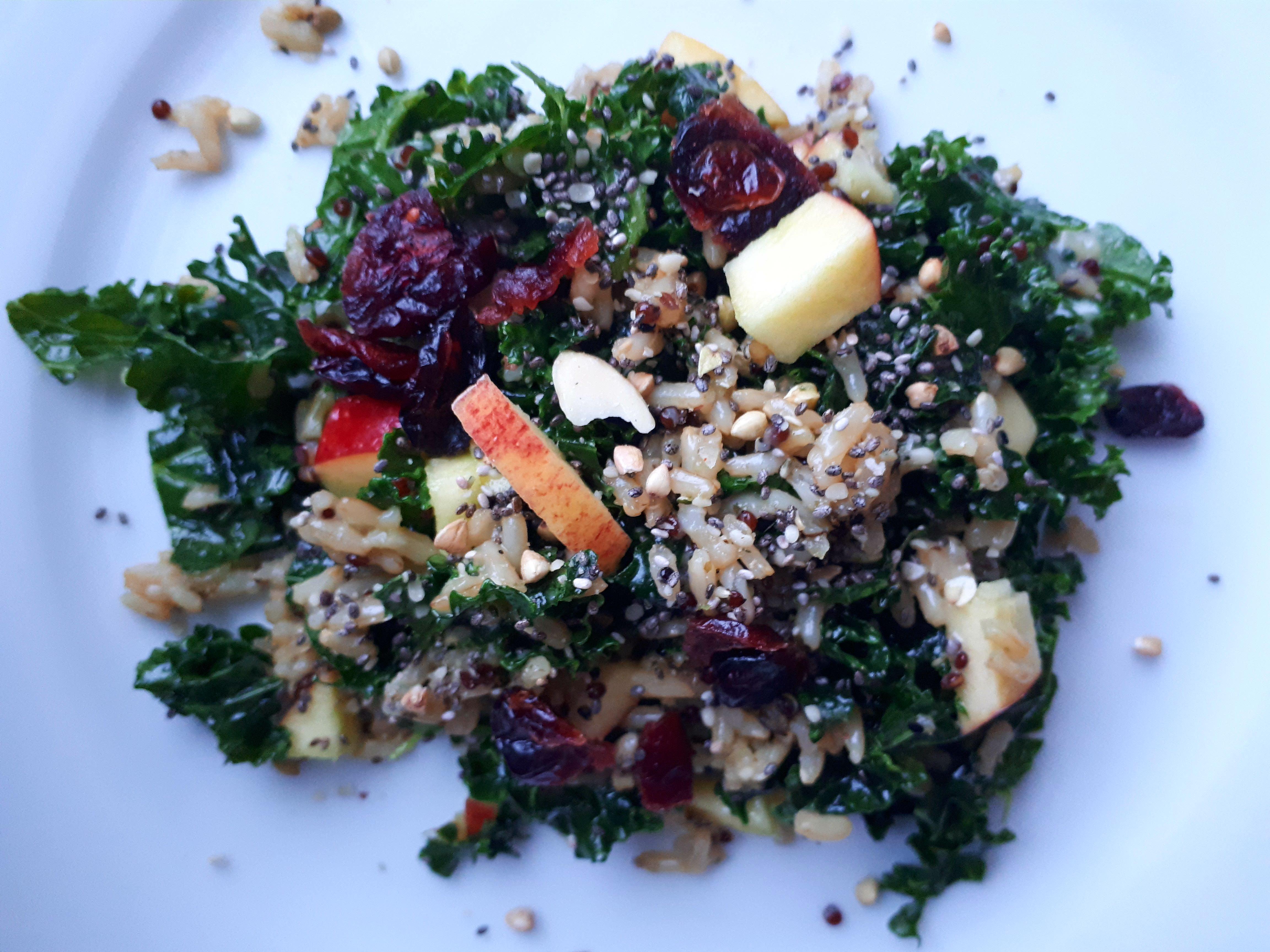 Junked Up Kale Salad Food of Life