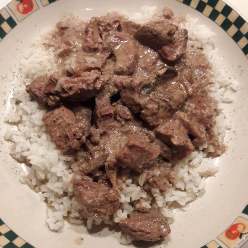 Slow Cooker Beef and Mushrooms Michelle Seace Traino