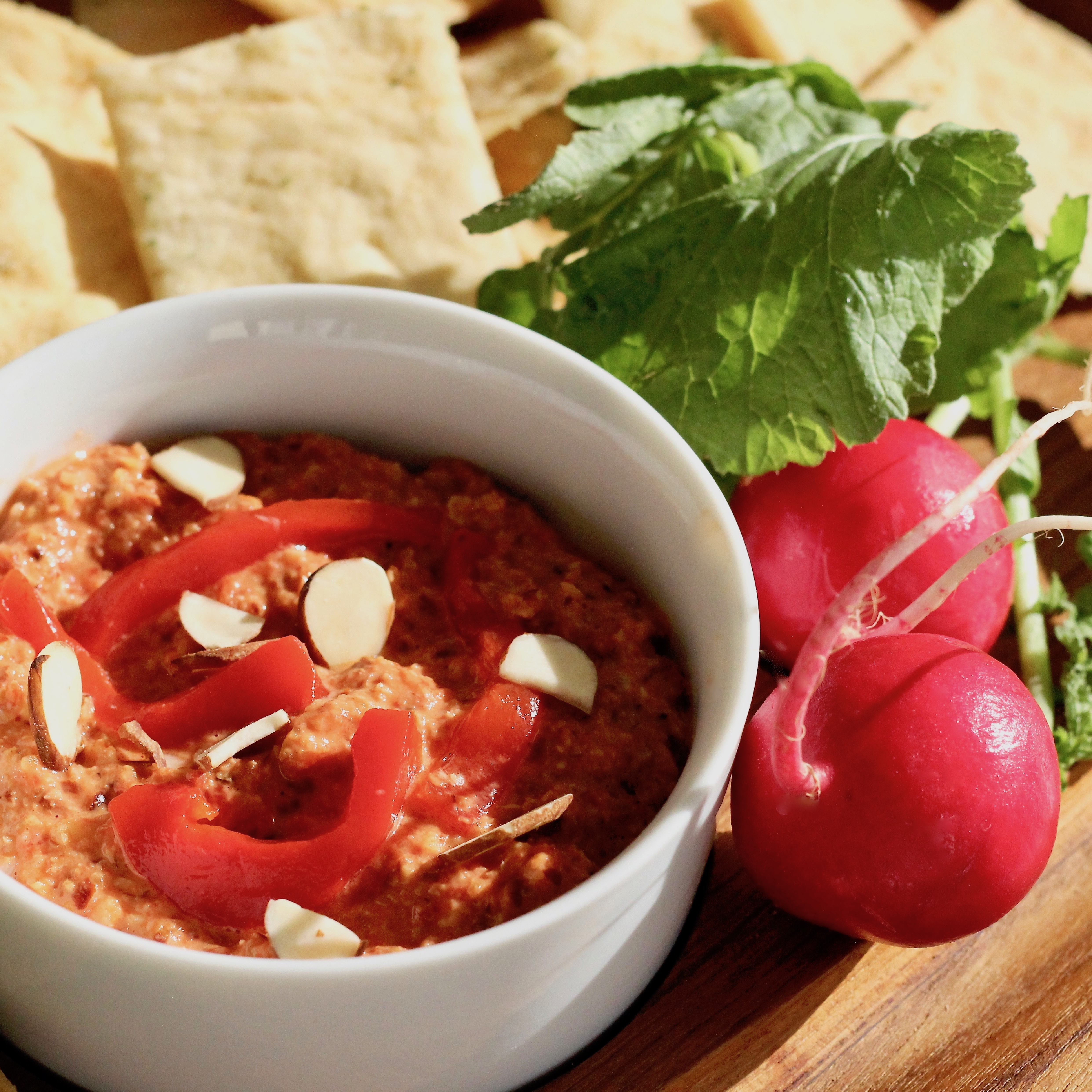 Roasted Red Pepper and Almond Dip
