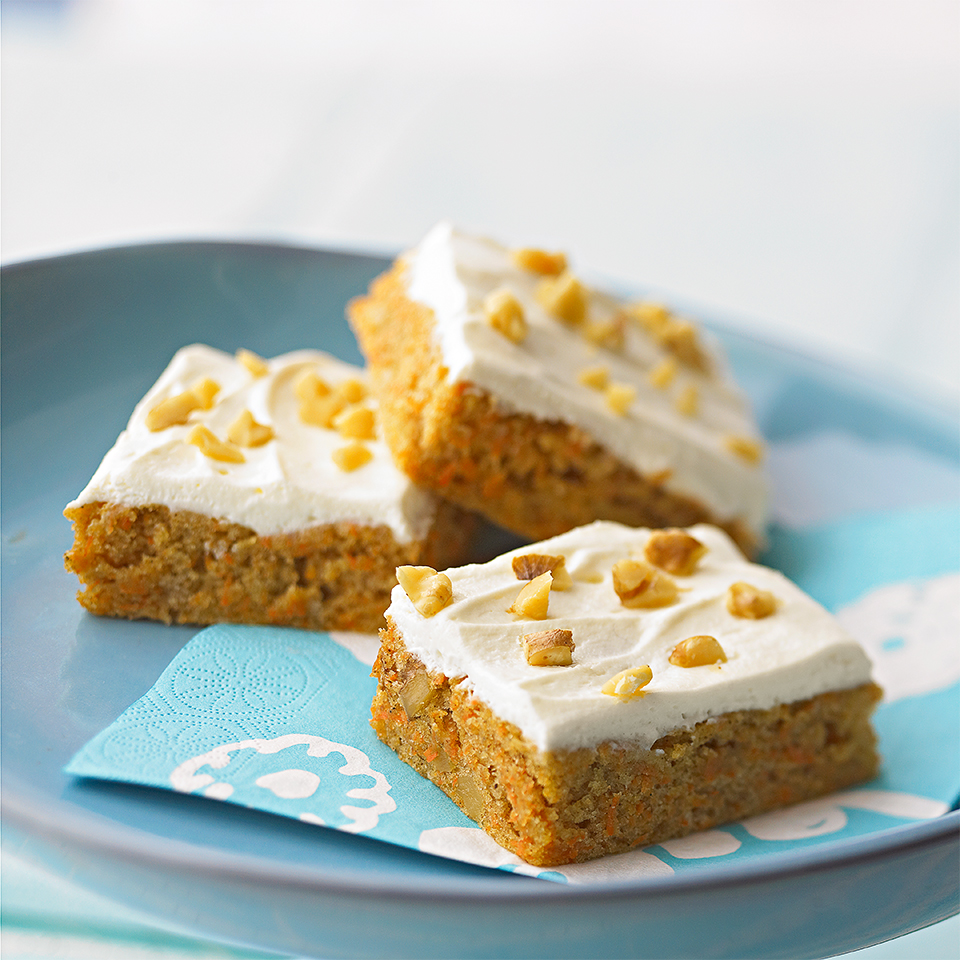 Nutty Carrot Cake Bars Trusted Brands