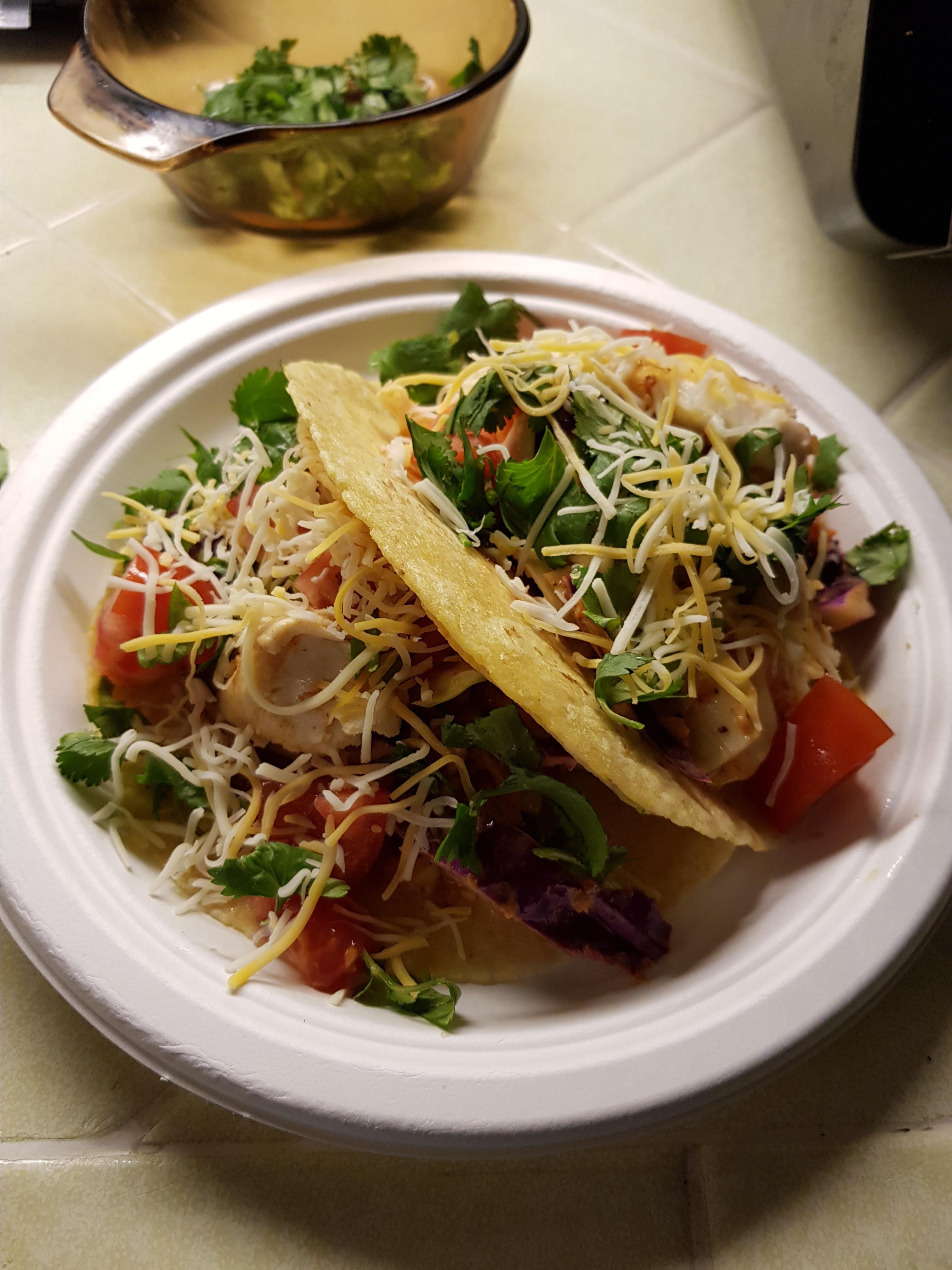 Healthy Fish Tacos with Cilantro Slaw