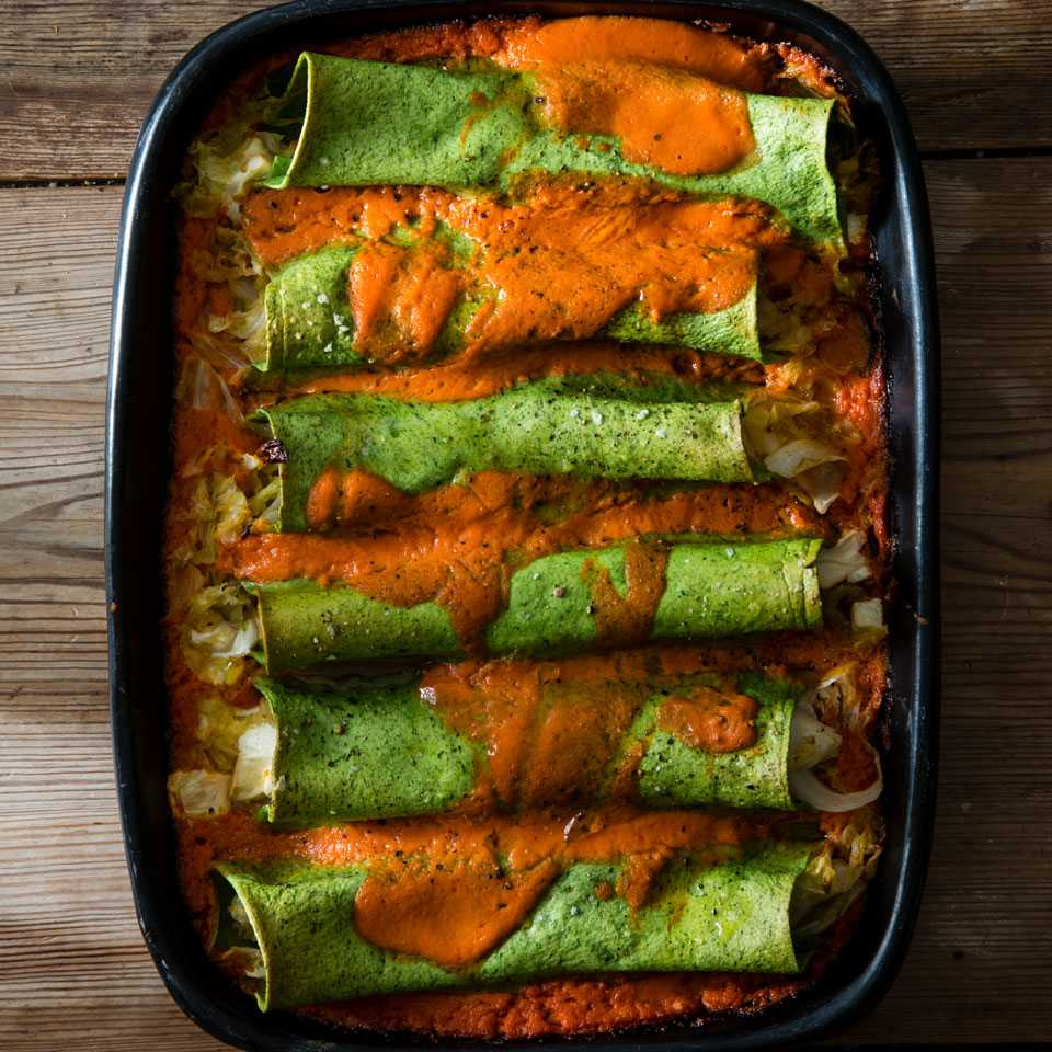 Spinach Cannelloni with Cabbage & Smoked Mozzarella Betsy Andrews