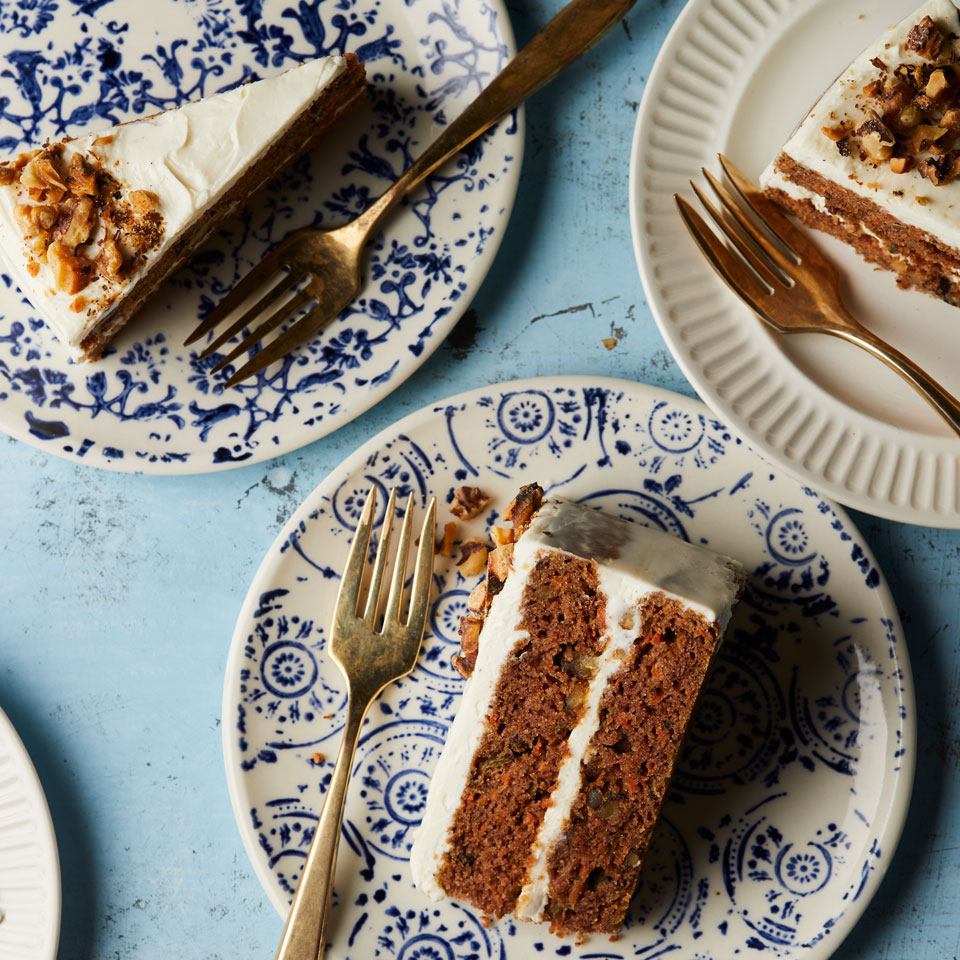 Almond flour provides the base for this tender gluten-free cake that is filled with carrots, spices and just a hint of coconut. Look for almond flour in the gluten-free baking section of most major supermarkets or natural-foods stores. Source: EatingWell.com, March 2018