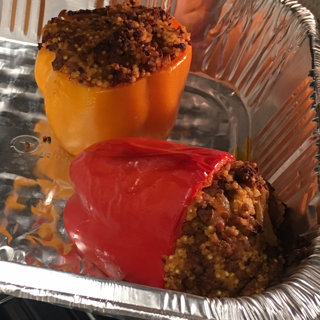 Millet and Beef Stuffed Peppers BJCirillo