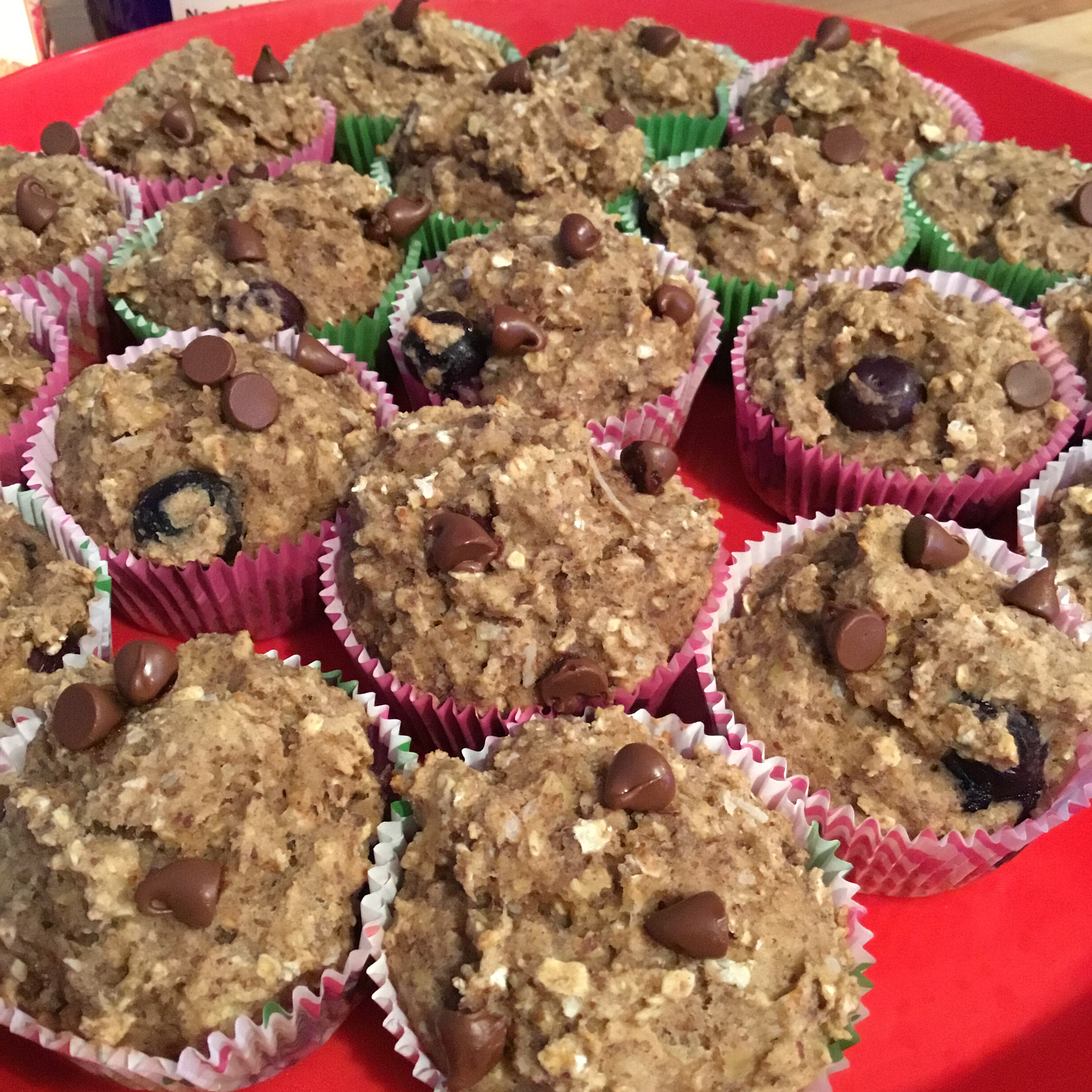 Blueberry Banana Coconut Flax Muffins MommaCarfi