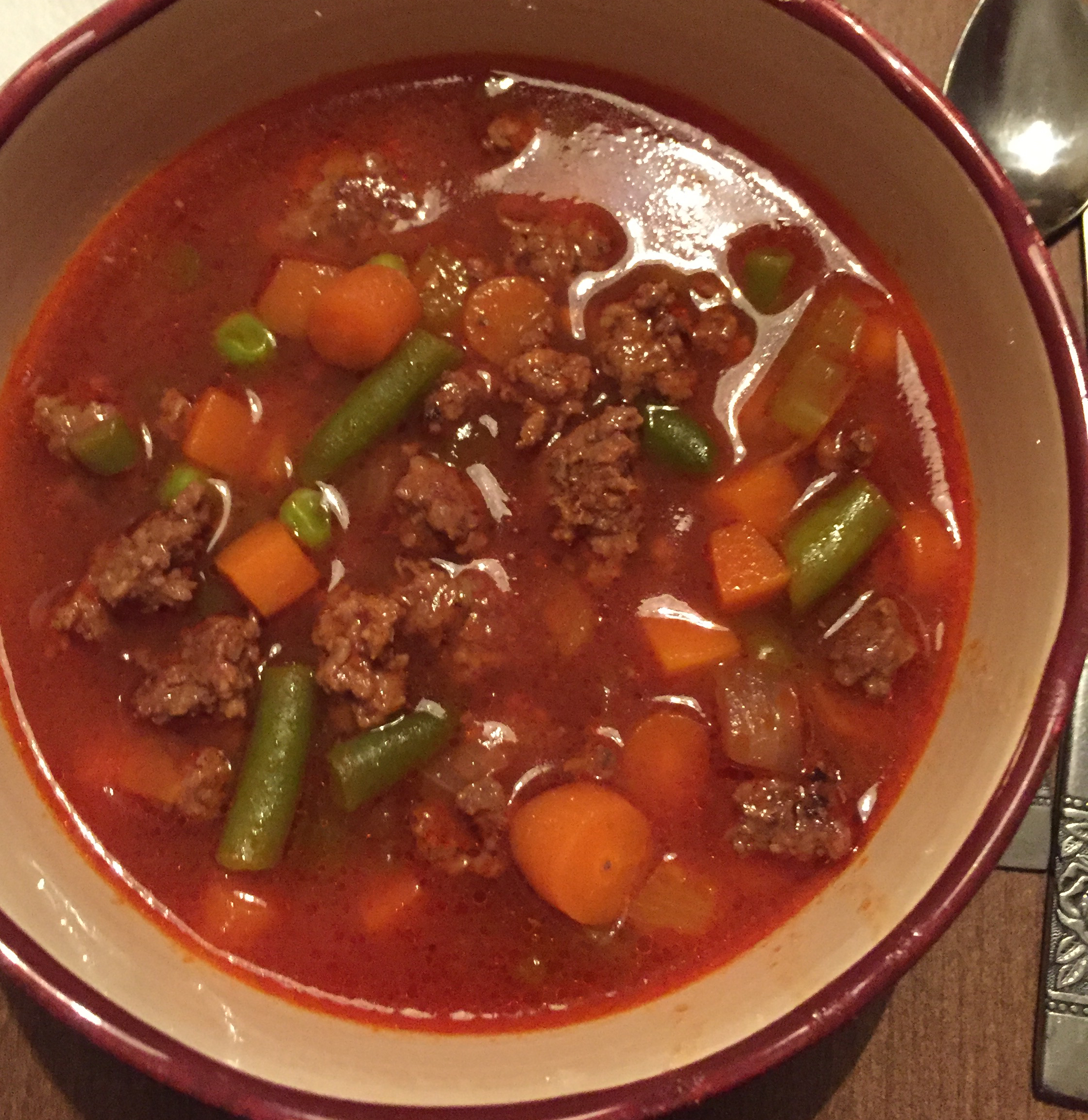 Hobo Ground Beef and Vegetable Soup Suzie