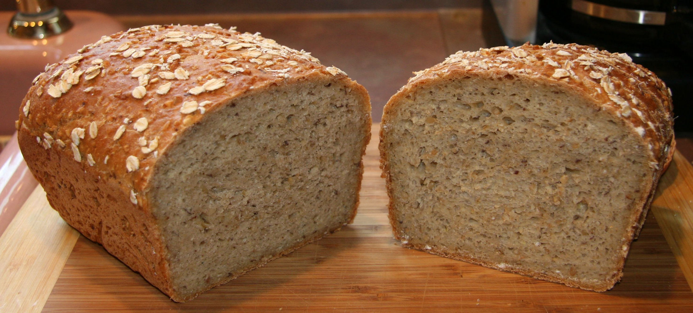 Whole Wheat and Steel-Cut Oats Bread - A Long-Fermentation Bread