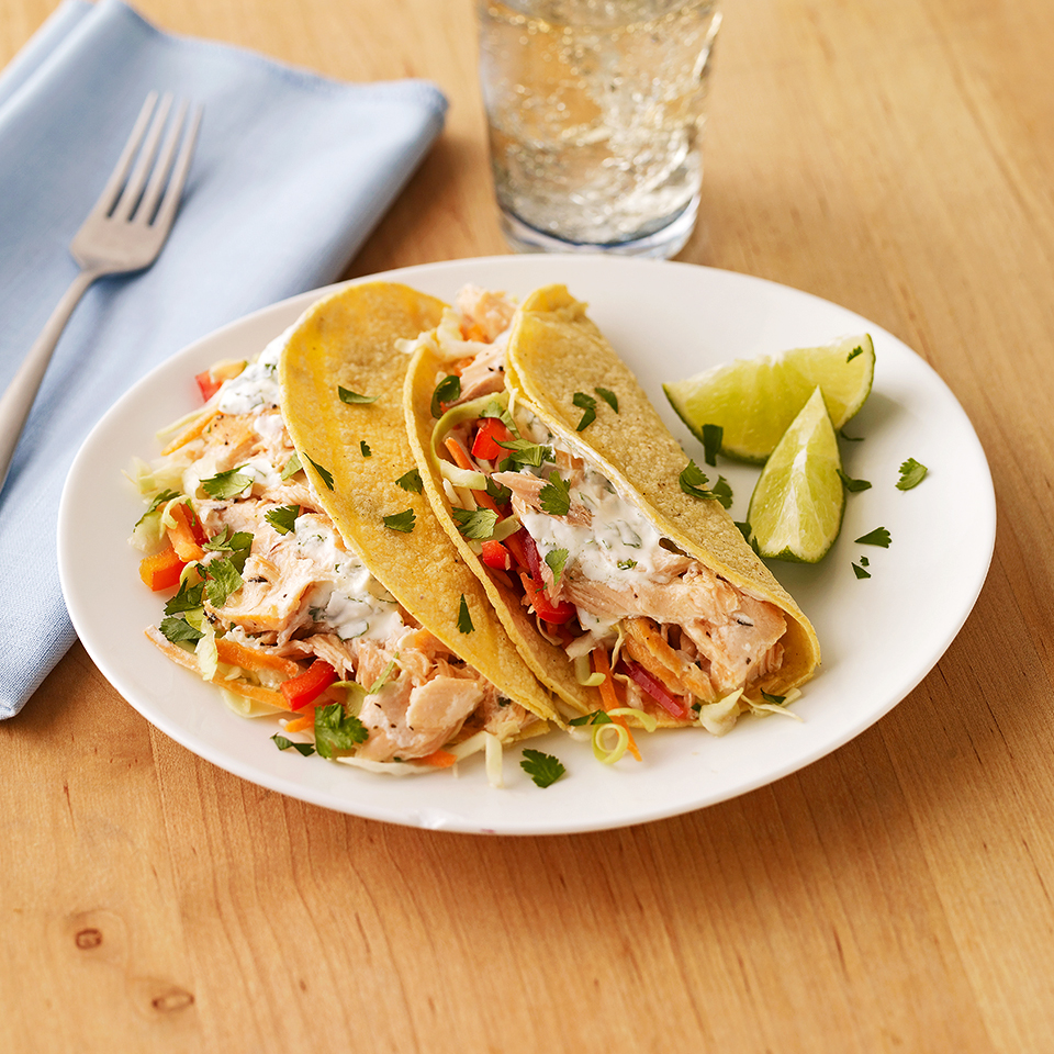 If healthy fish tacos are new to you, this crunchy, creamy version is a great way to try them. Source: Diabetic Living Magazine