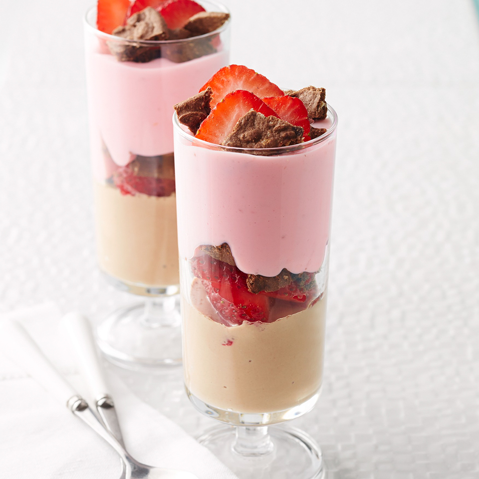 This simple breakfast parfait is quick, easy, and under 180 calories. Source: Diabetic Living Magazine