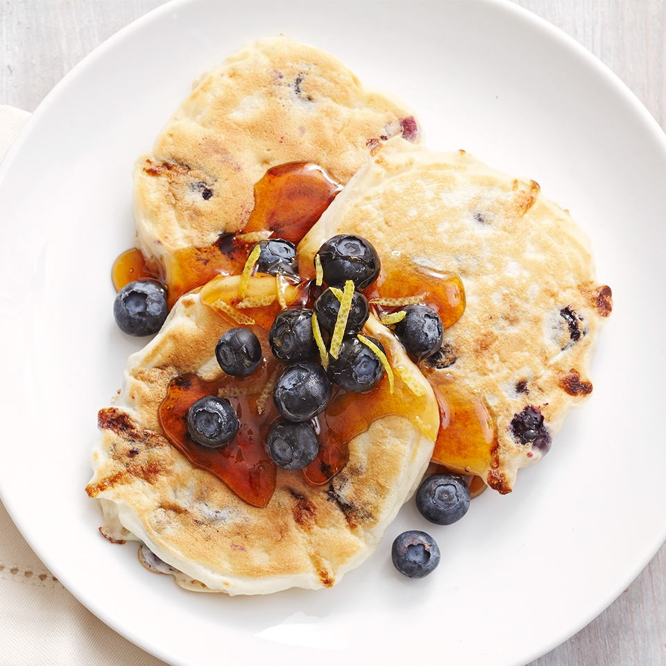 Blueberry-Lemon Cottage Cheese Silver Dollar Pancakes Trusted Brands