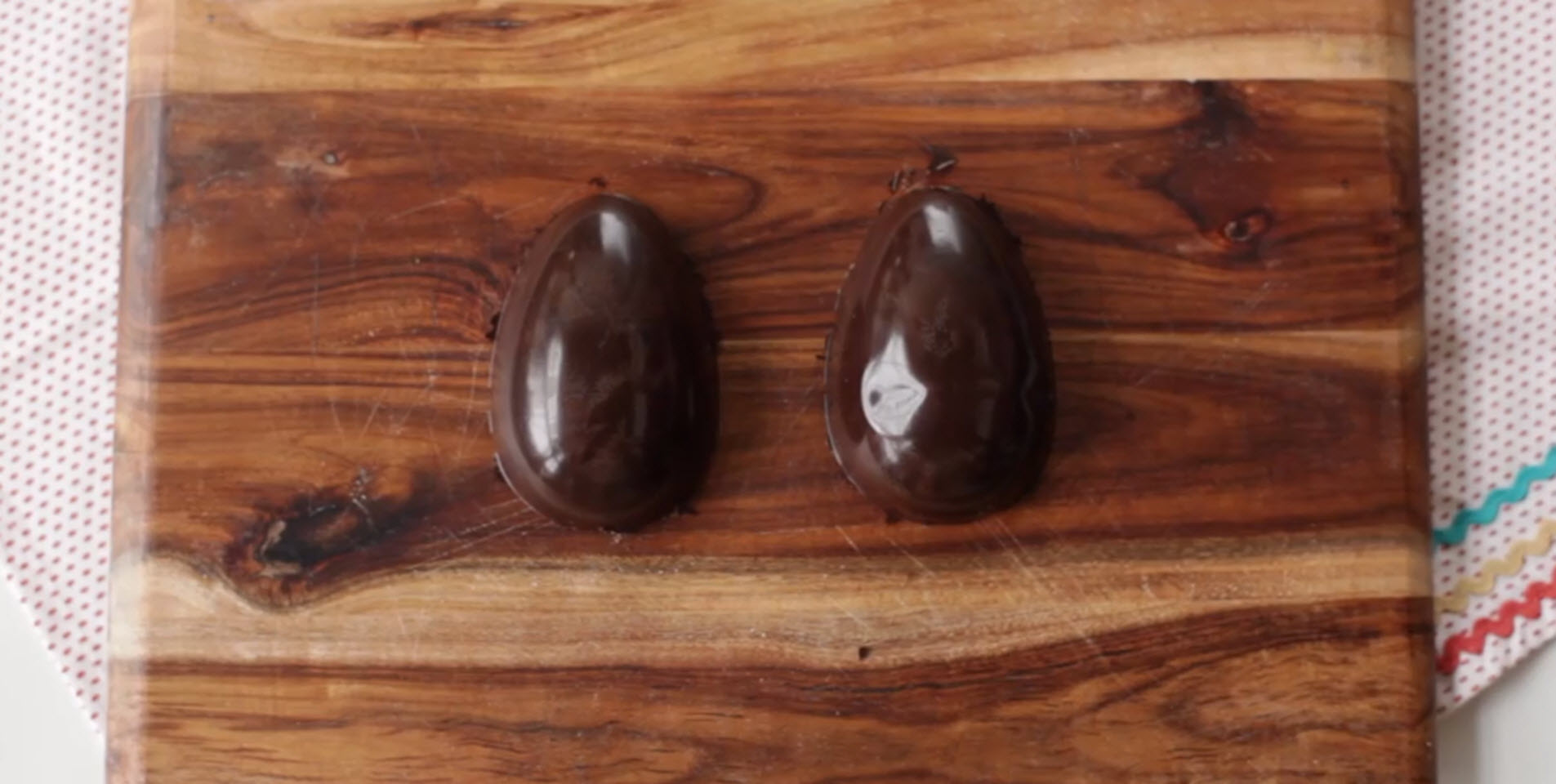 Easter Chocolate Eggs Made with a Mold