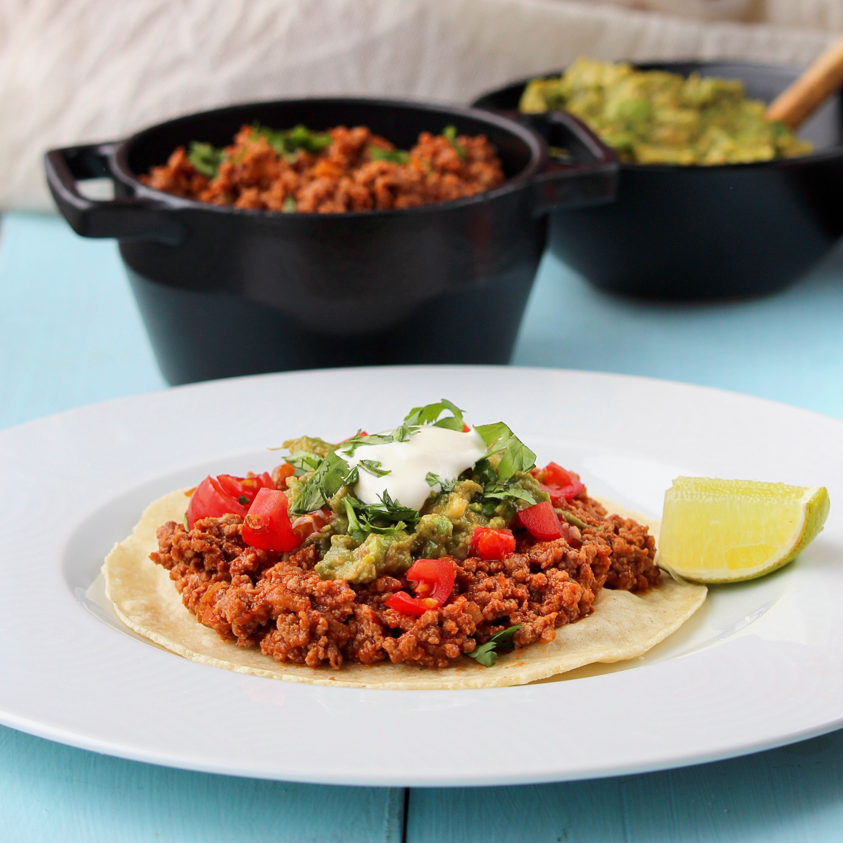 """""""It doesn't get much easier than this -- lean ground turkey and salsa ranchera combined and made in a pressure cooker such as Instant Pot®,"""" says bd.weld. """"Perfect for tacos, burritos, or even a taco salad."""""""