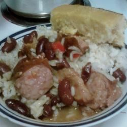 Richard and Suzanne's Famous Red Beans and Sausage Shay