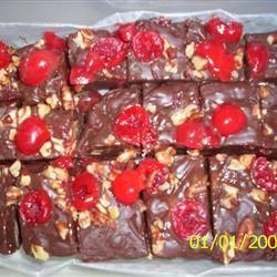 Cherries and Chocolate Fudge sweet sakura