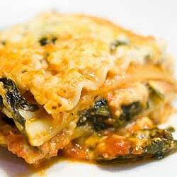 spinach lasagna ii recipe