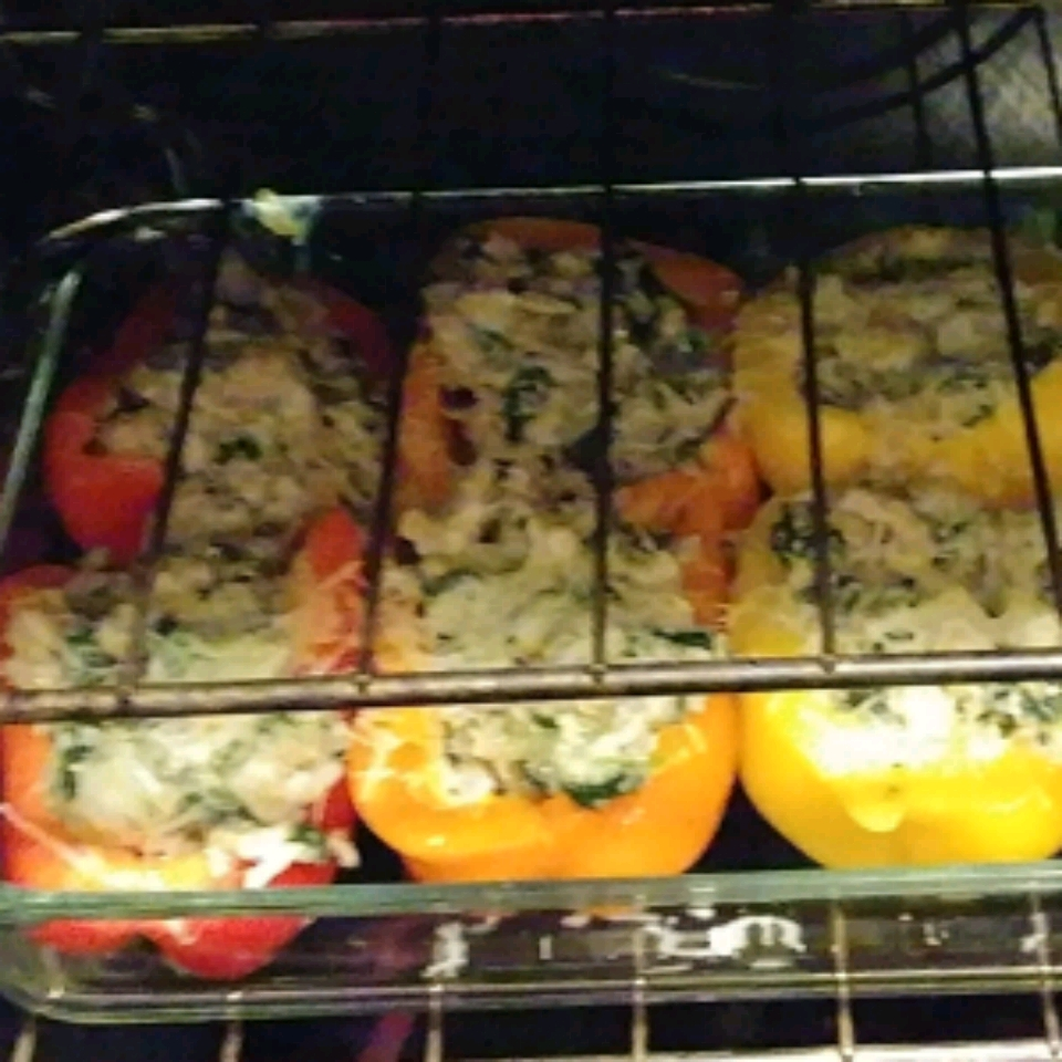 Chicken & Quinoa Stuffed Peppers