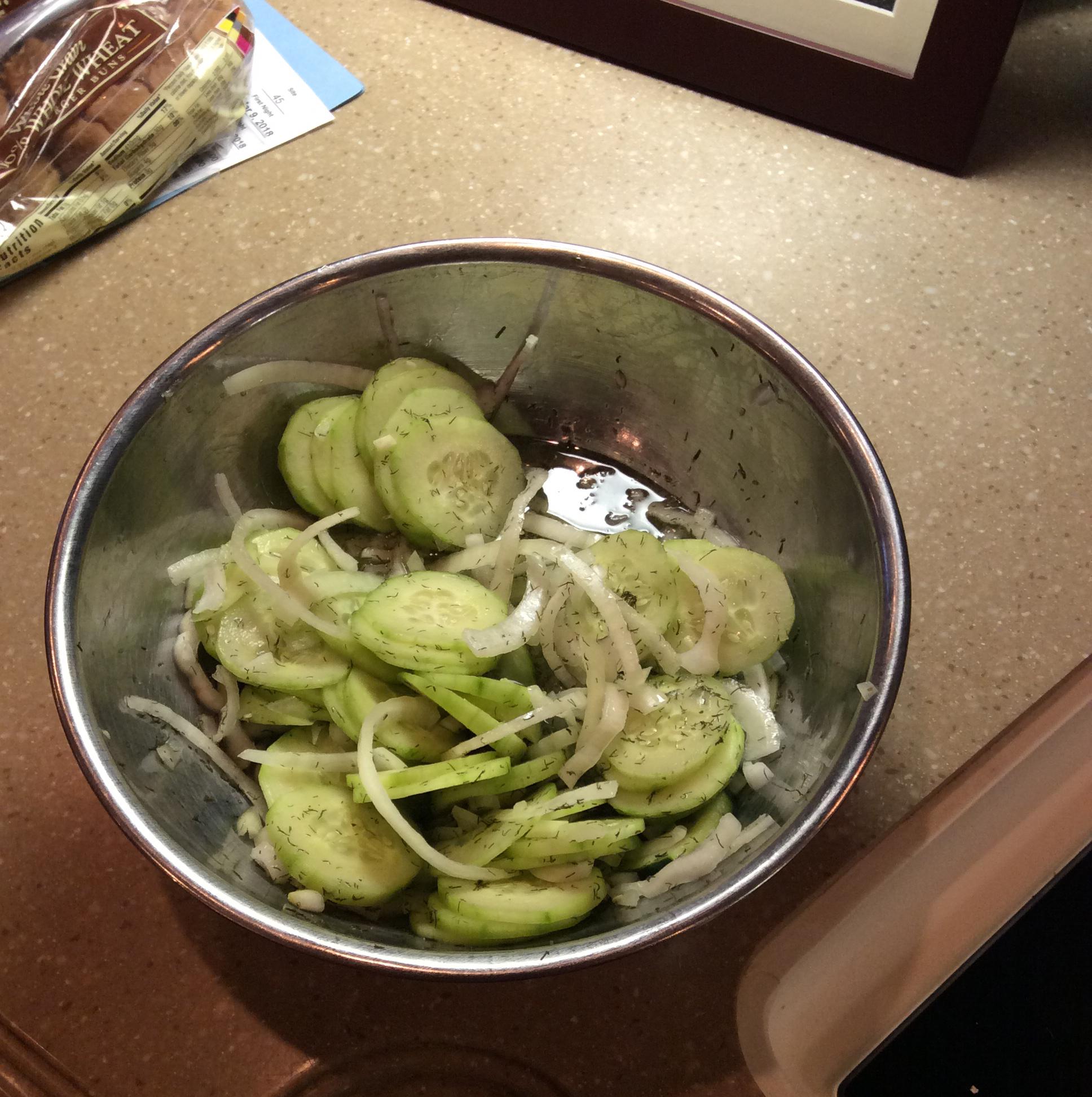 Adrienne's Cucumber Salad Jeannie Ryan