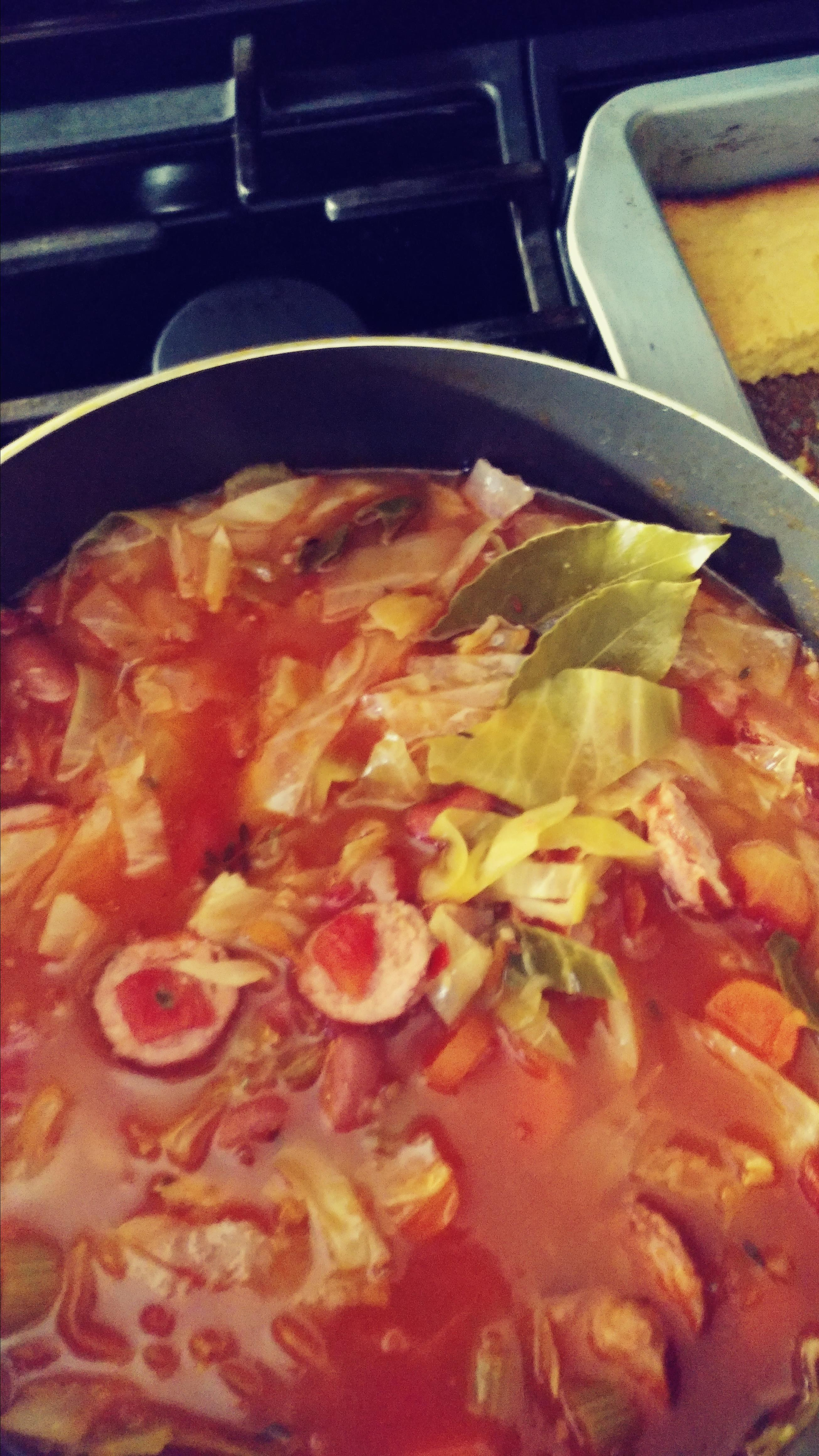 Cabbage and Smoked Sausage Soup chalaree