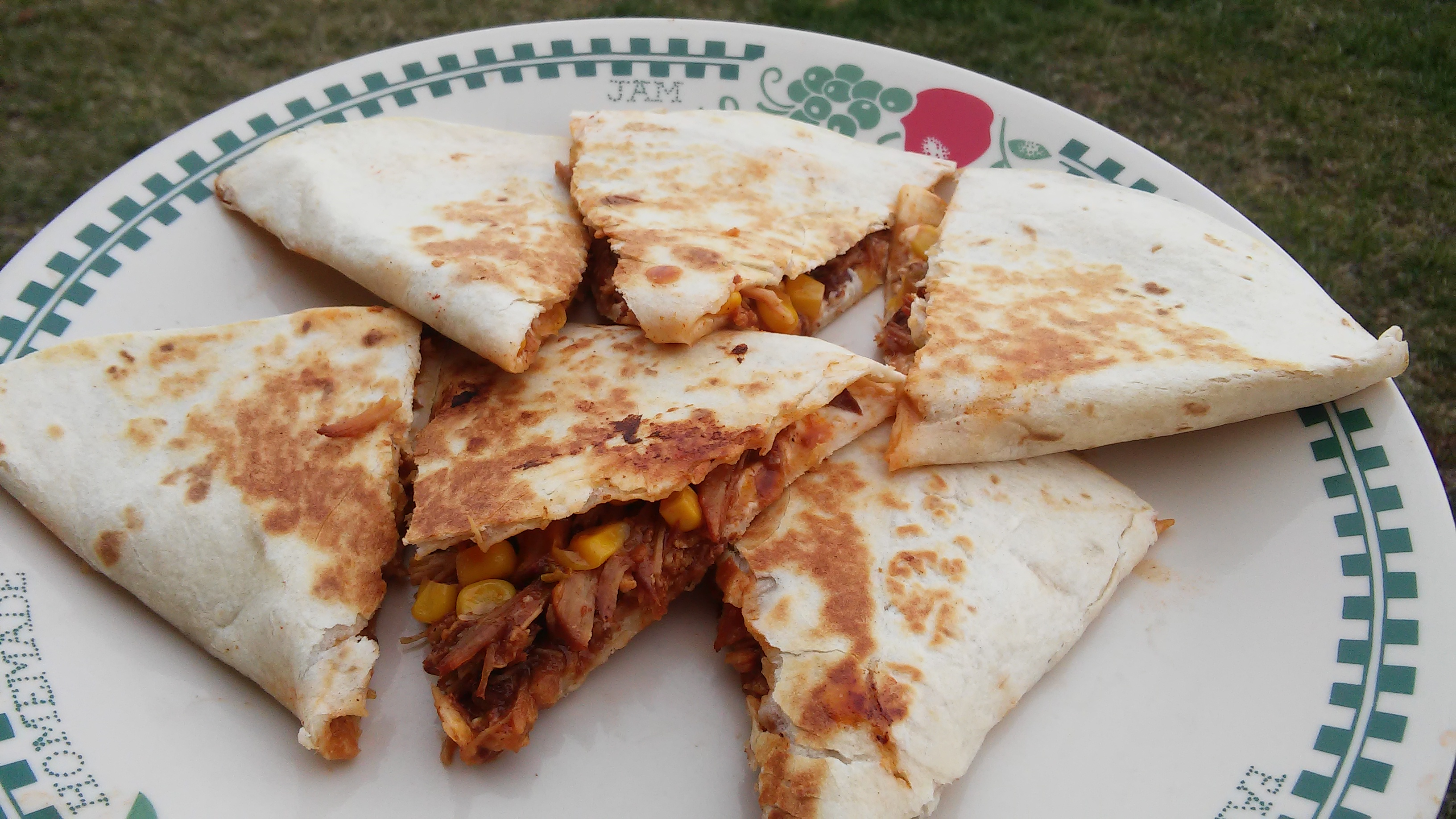 Creamy Jalapeno and Pulled Pork Quesadilla