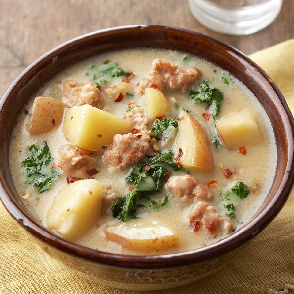 This rich Italian soup, made with ground pork and potatoes, is sure to satisfy everyone who tries it. Using a slow cooker makes this recipe easy to execute.