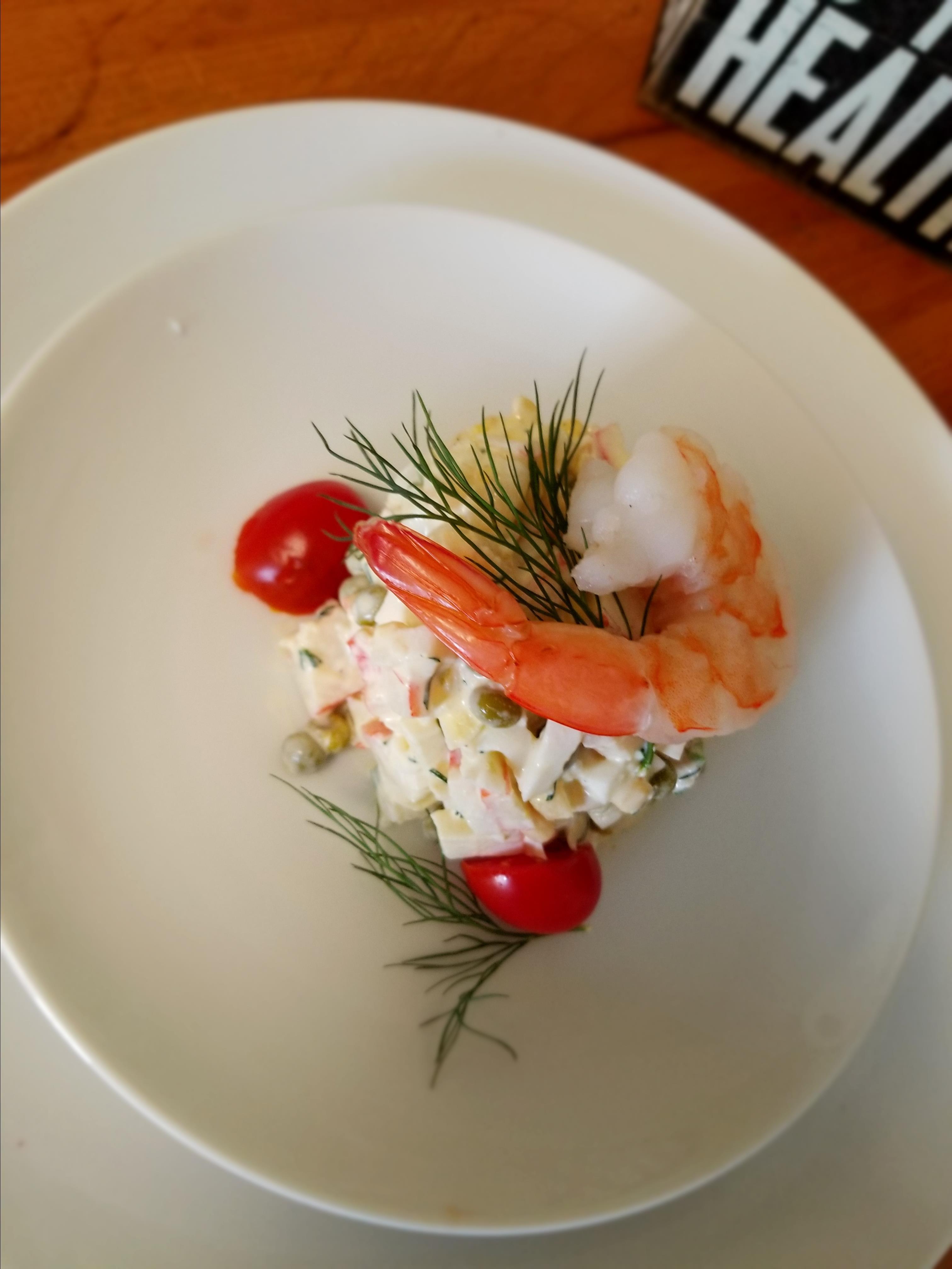 Simple Crab and Shrimp Salad