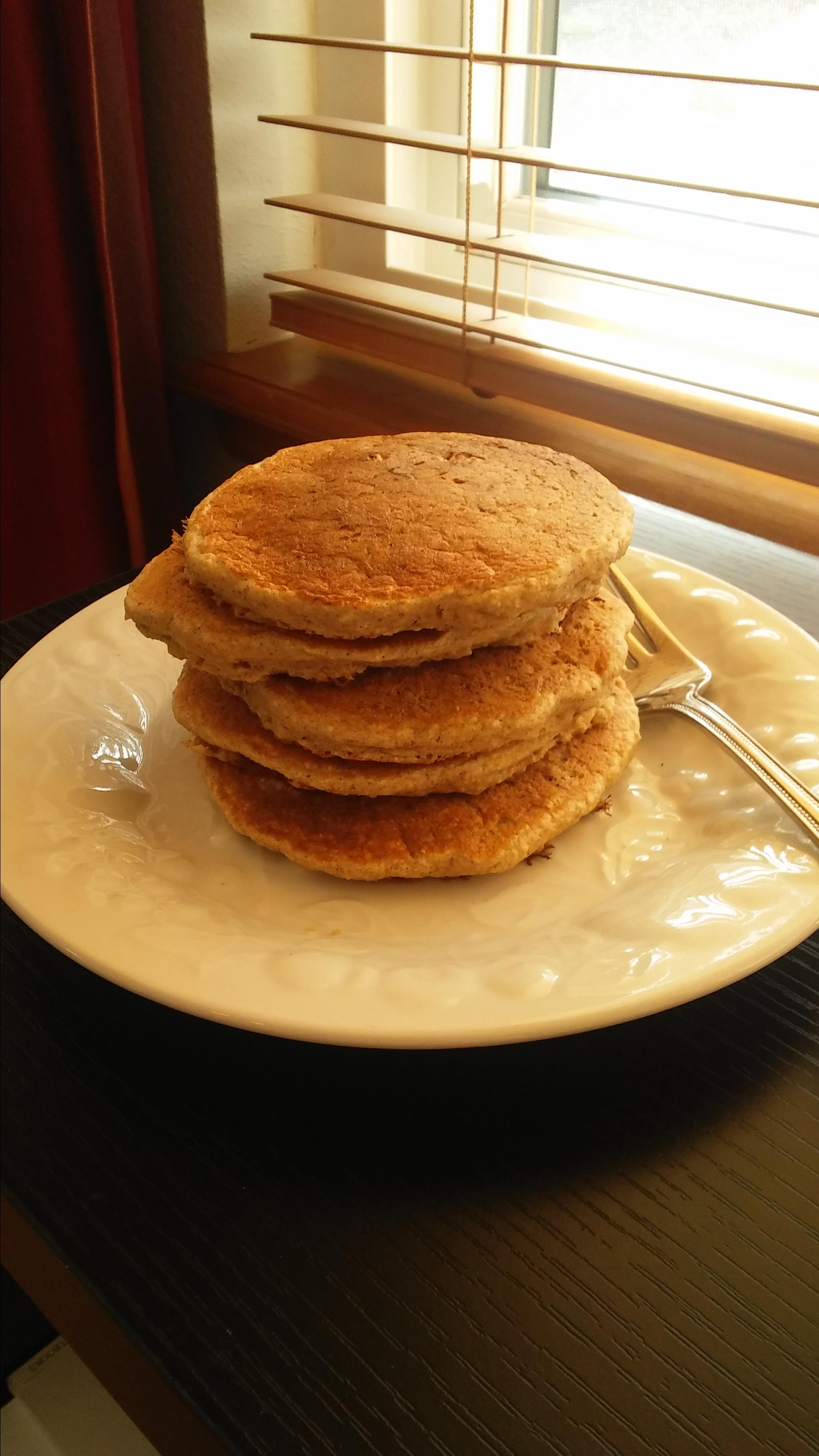 Dairy-Free Oatmeal Cookie Pancakes
