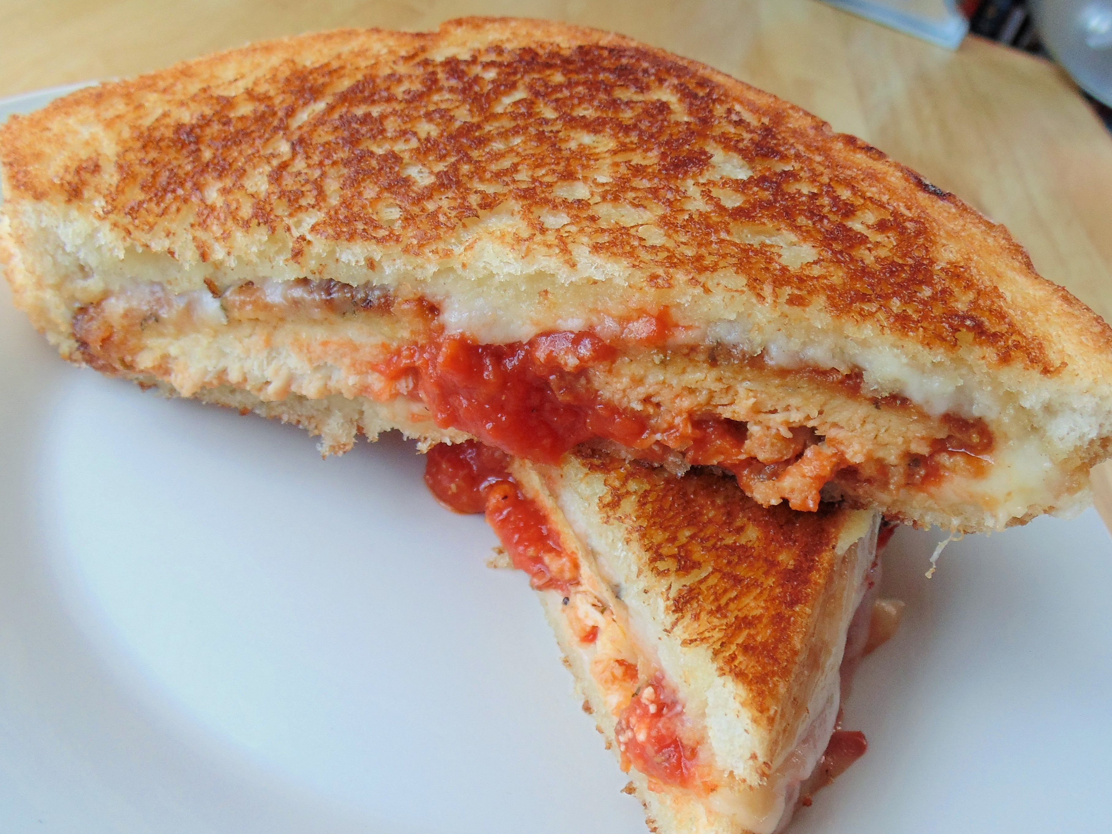 Lazy Chicken Parmesan Grilled Cheese Christina