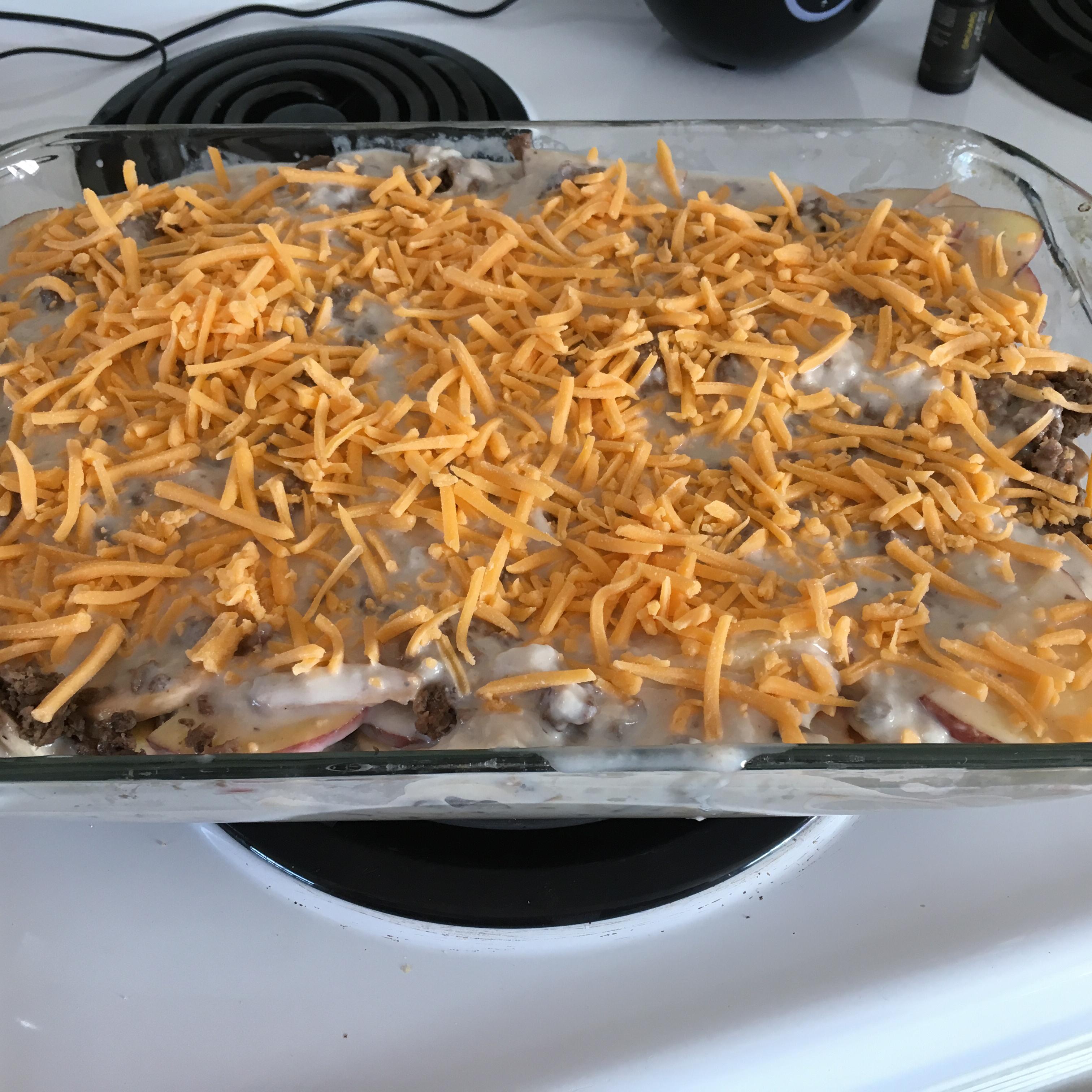 Creamy Hamburger Potato Casserole Theresa