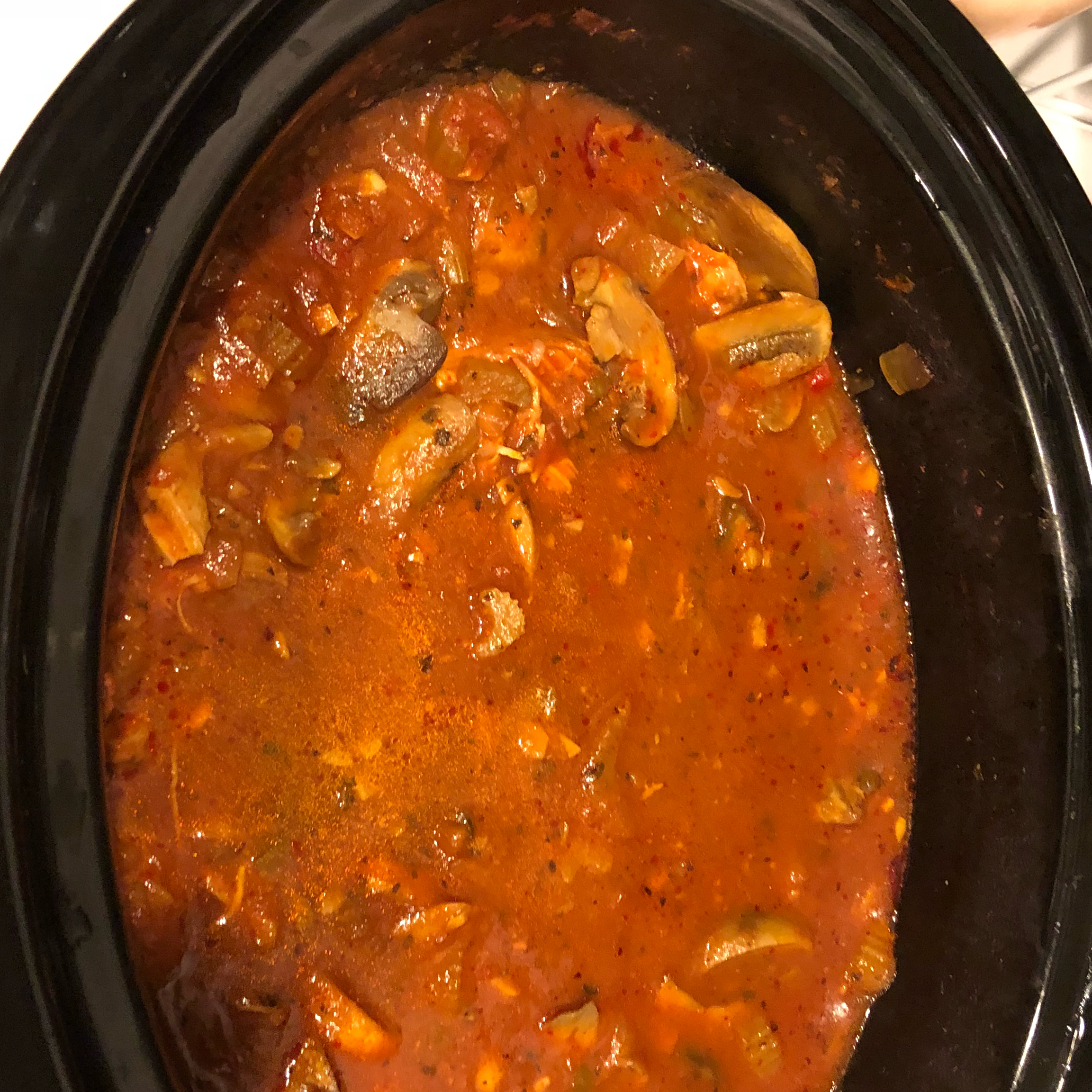 Chicken Cacciatore in a Slow Cooker