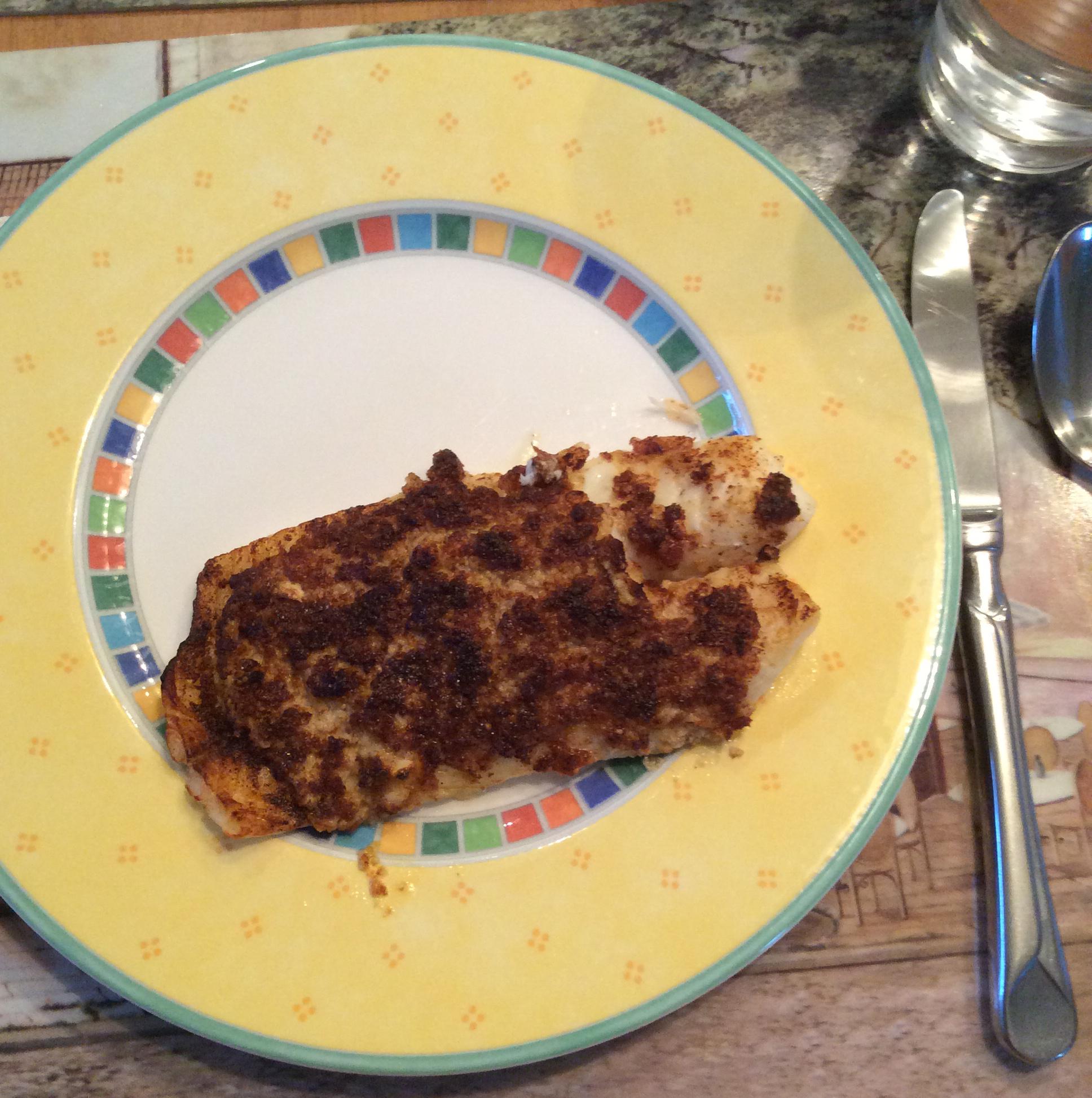 Garlic Parmesan Orange Roughy
