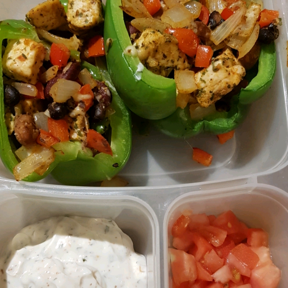 Southwestern Stuffed Bell Peppers (Low Carb) Lindsay Korpiniski